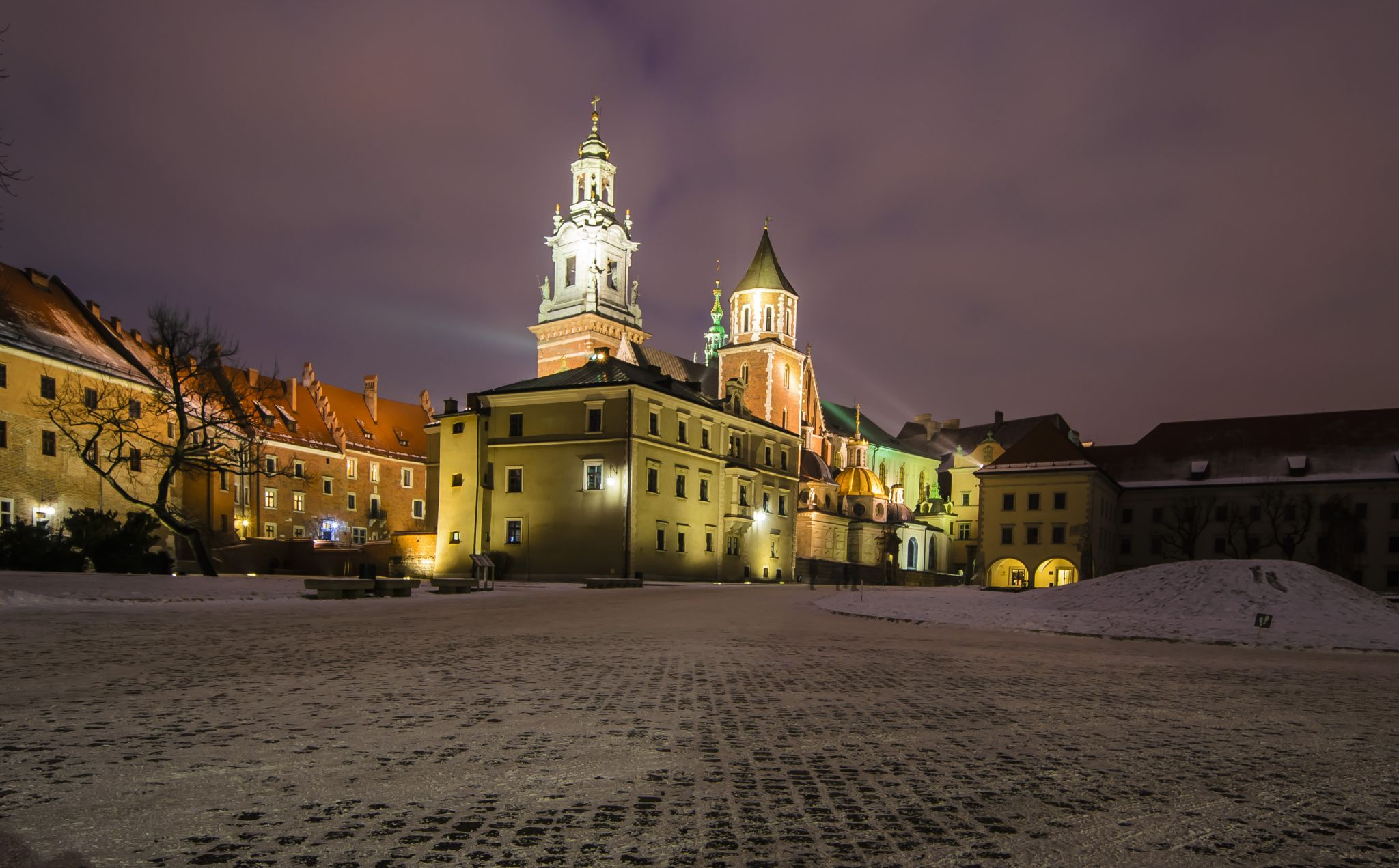 The castle at night, Poland