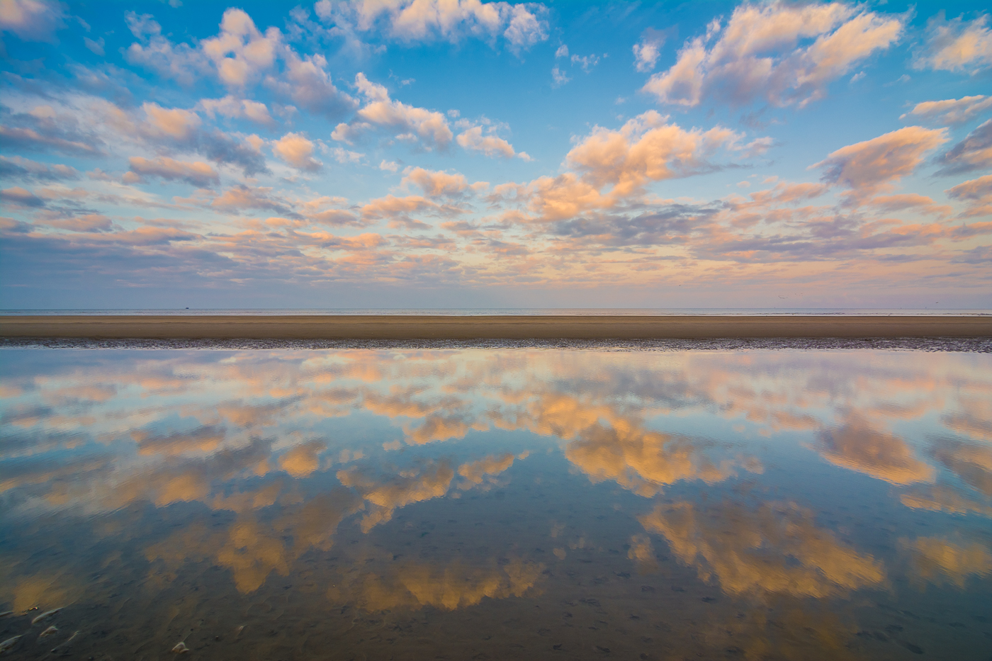 Wadden Sea in St. Peter Ording, Eiderstedt, Germany
