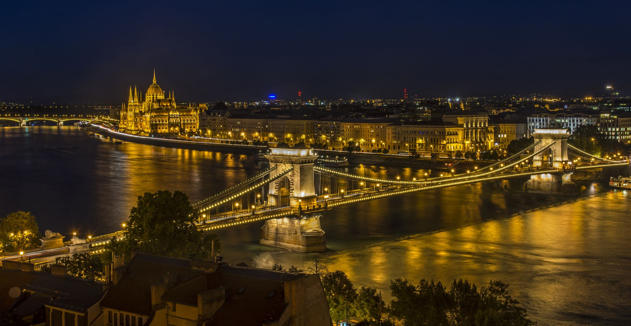 Chain Bridge and Hungarian Parliament, Hungary