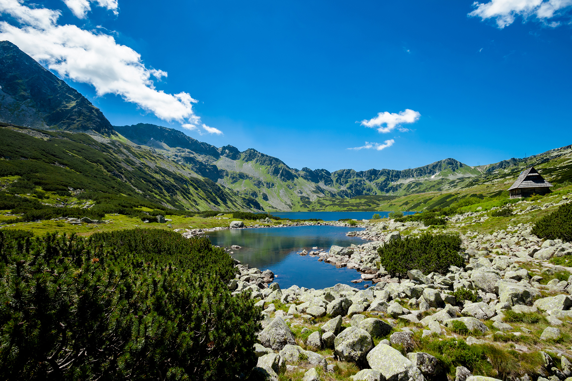 Five lakes valley, Poland