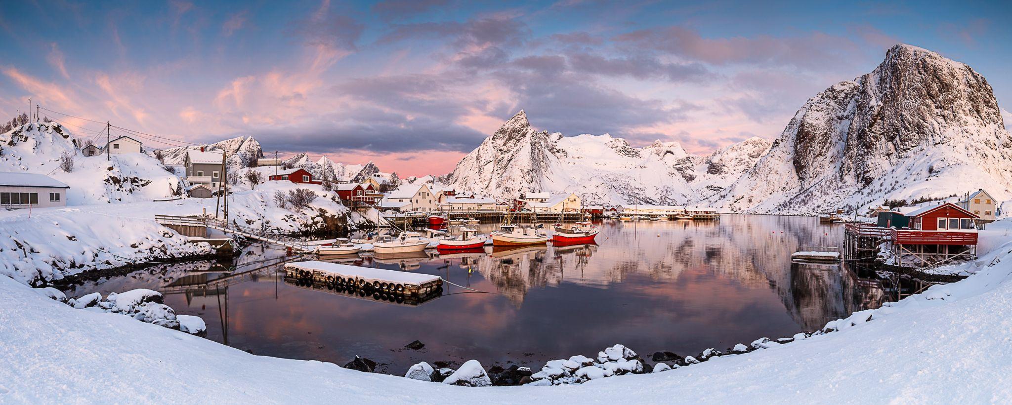 Hamnoy harbor, Norway