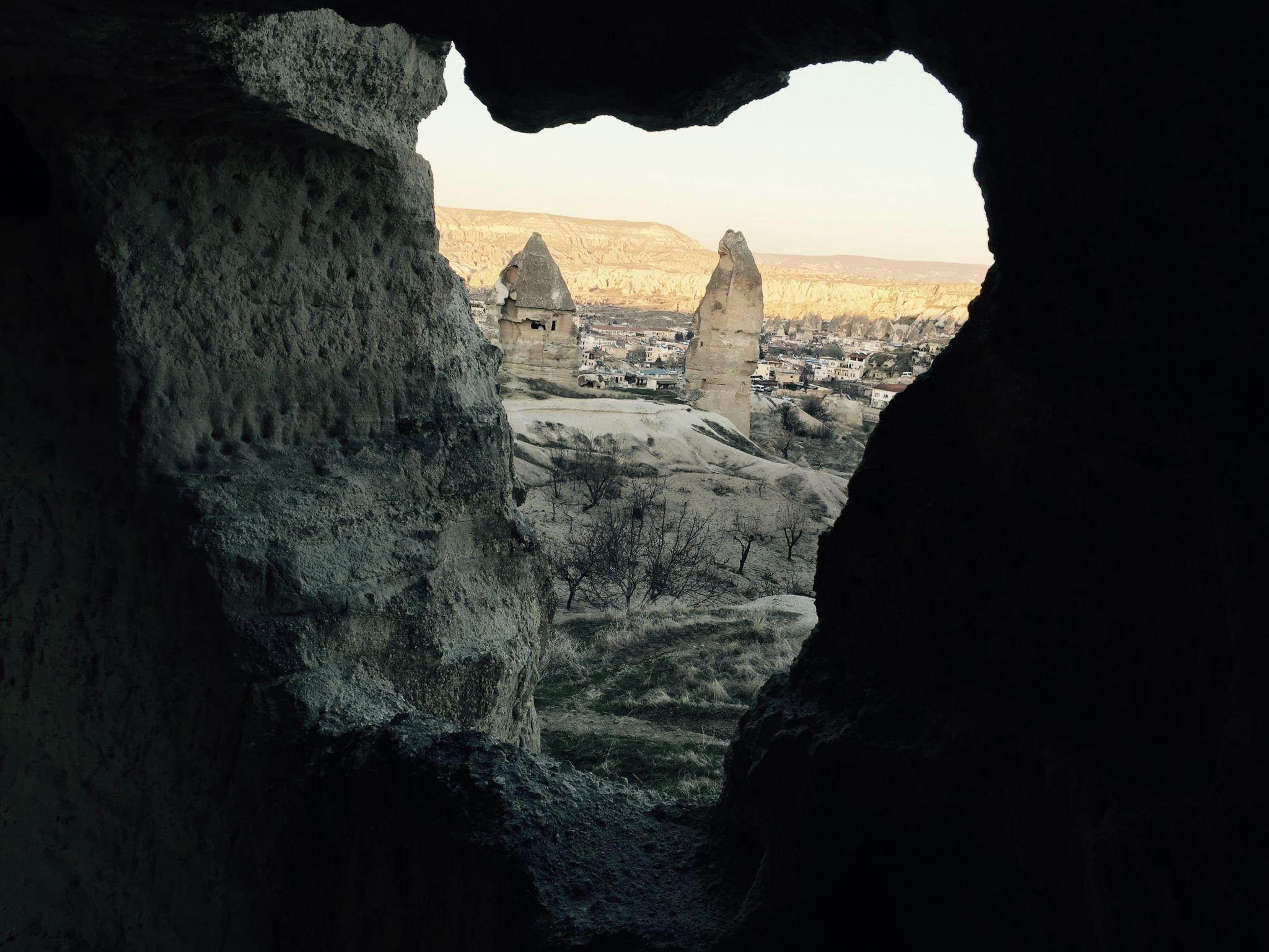 Höhlenliebe bei Sonnenuntergang, Turkey
