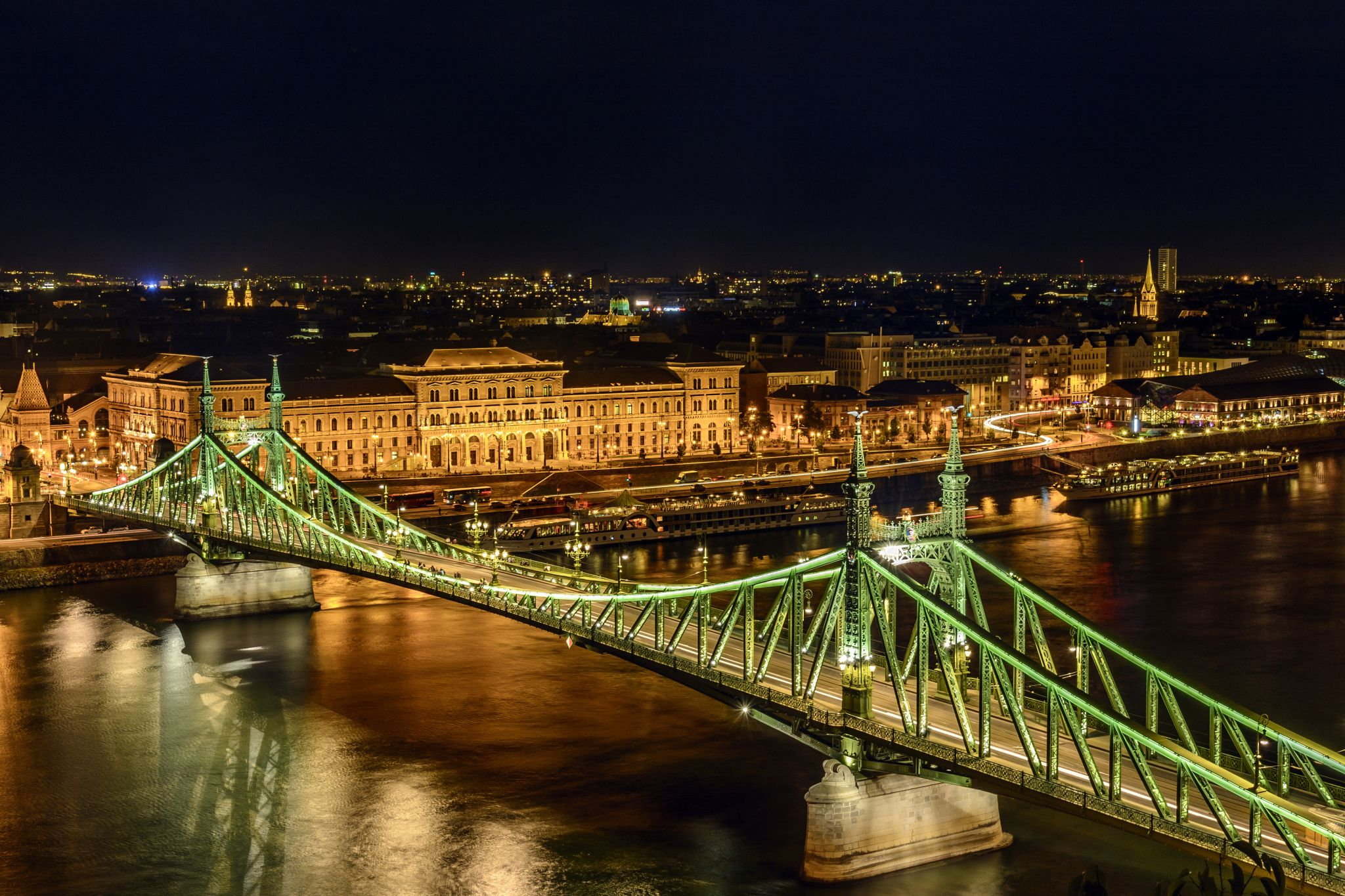 Liberty Bridge and Corvinus University, Hungary