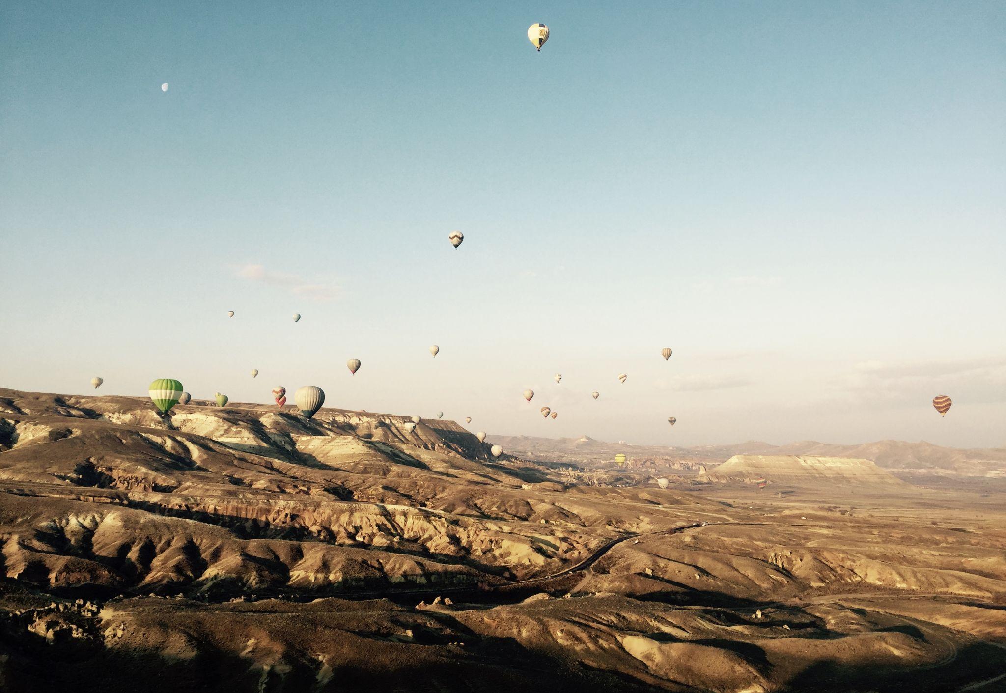morning glory in Cappadocia, Turkey