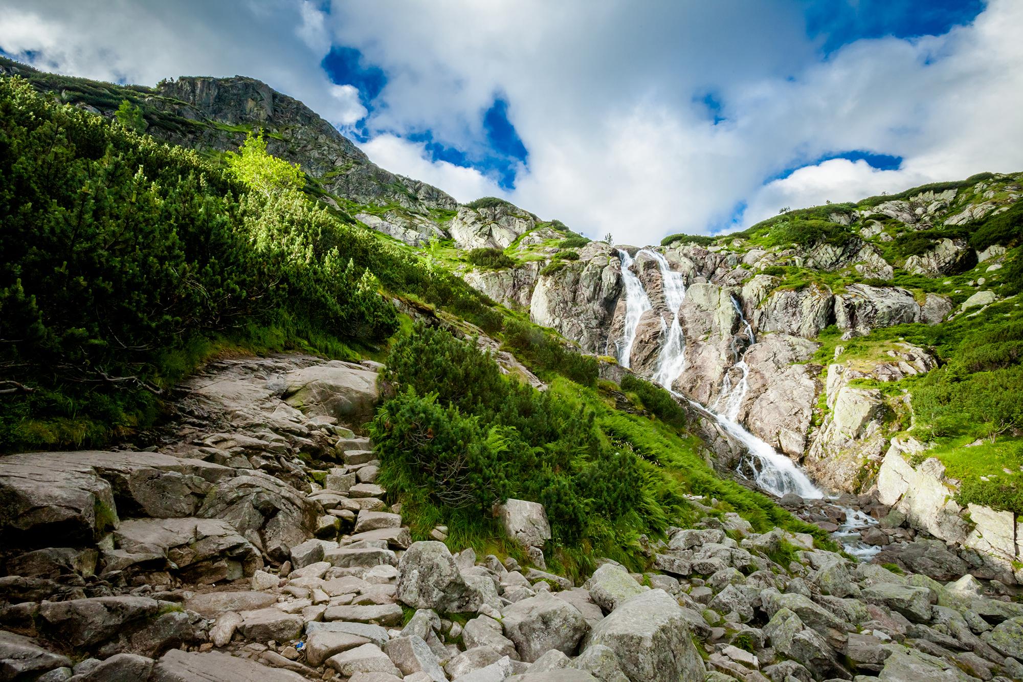 Siklawa waterfall, Poland