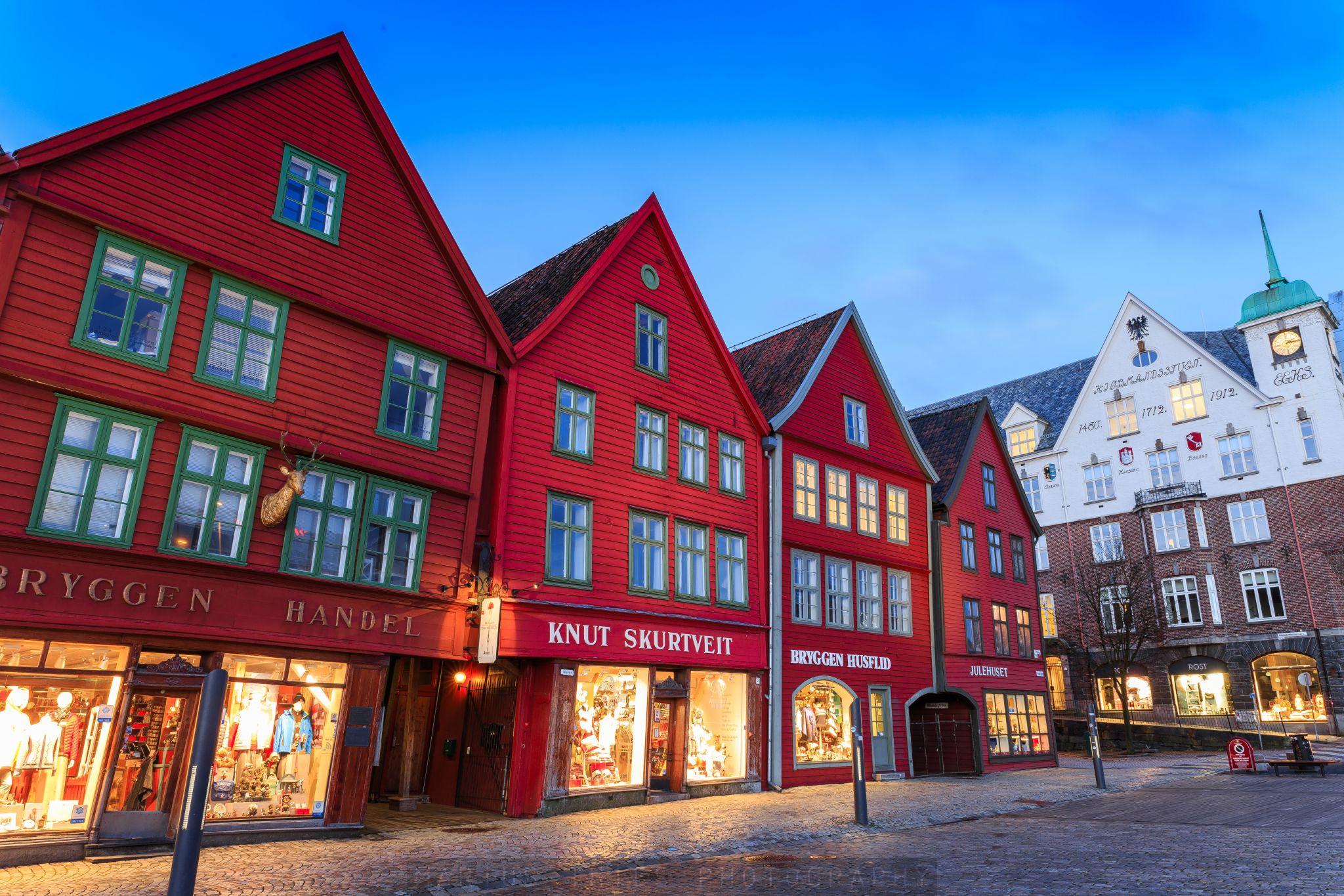 The District Bryggen in Bergen, Norway, Norway