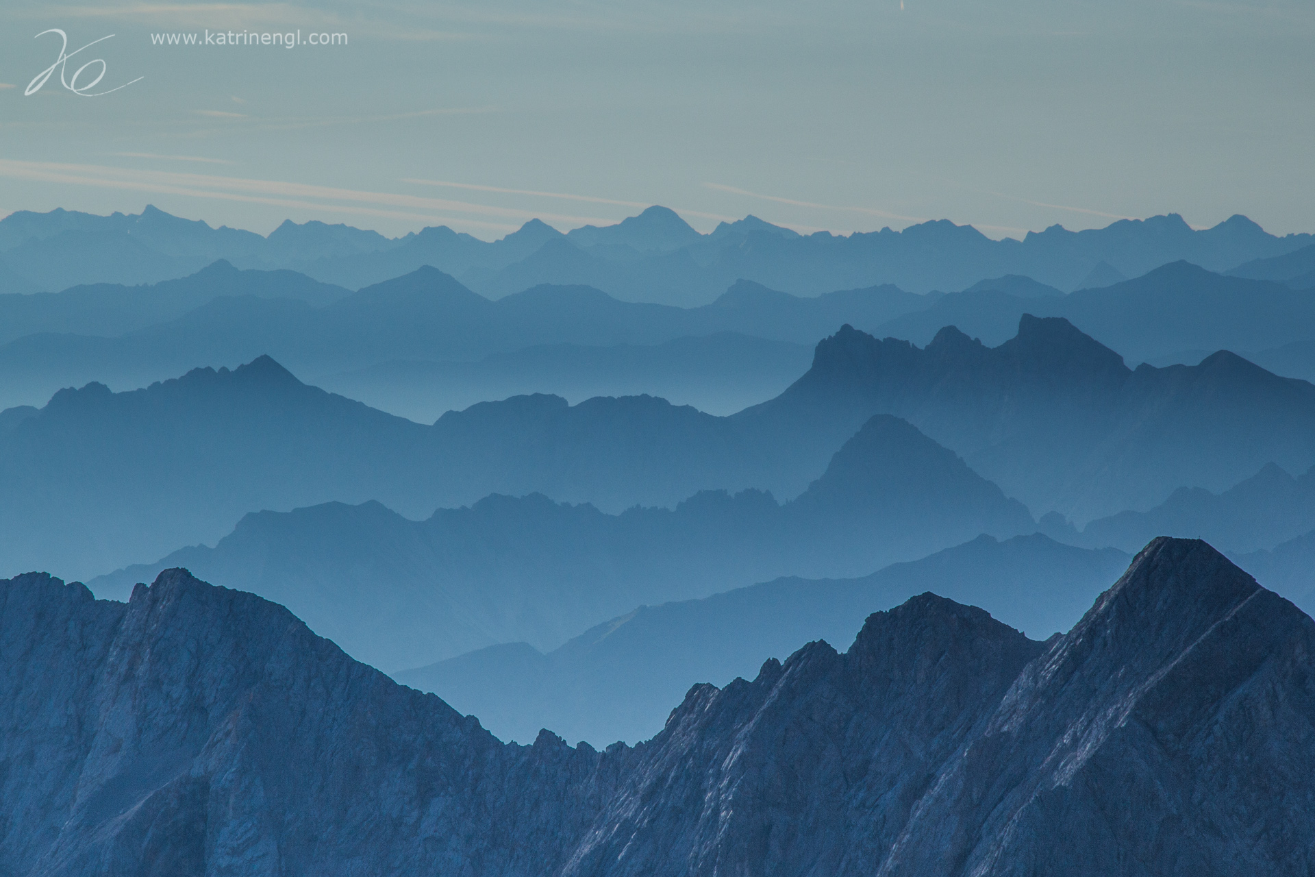 View from the Zugspitze, Germany