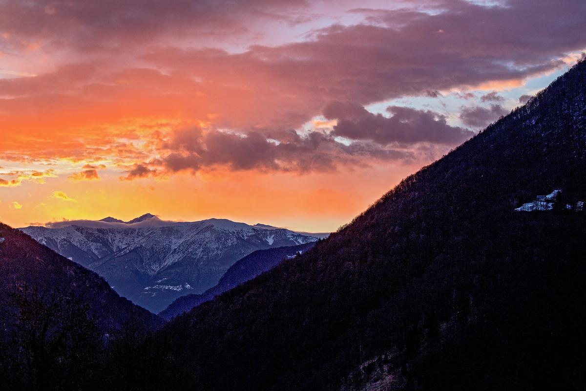 Blick von Loco Richtung Lago Maggiore, Switzerland