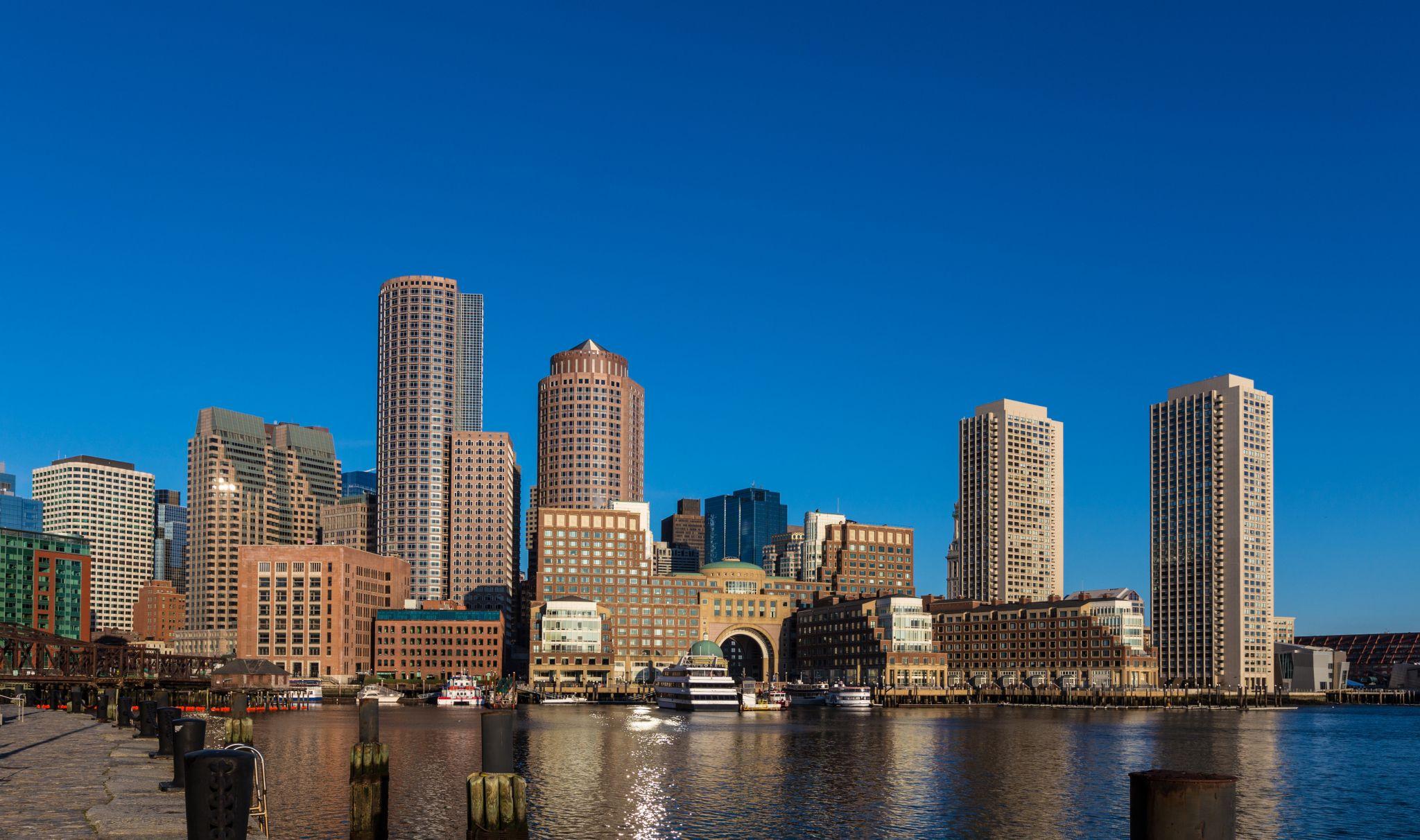 Boston Harbor Skyline, USA