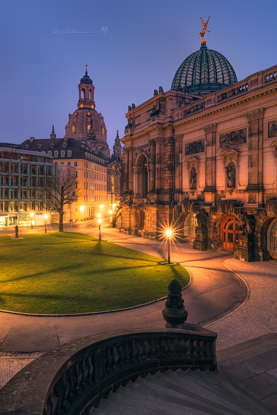 DOMES AT BLUE HOUR (DRESDEN), Germany