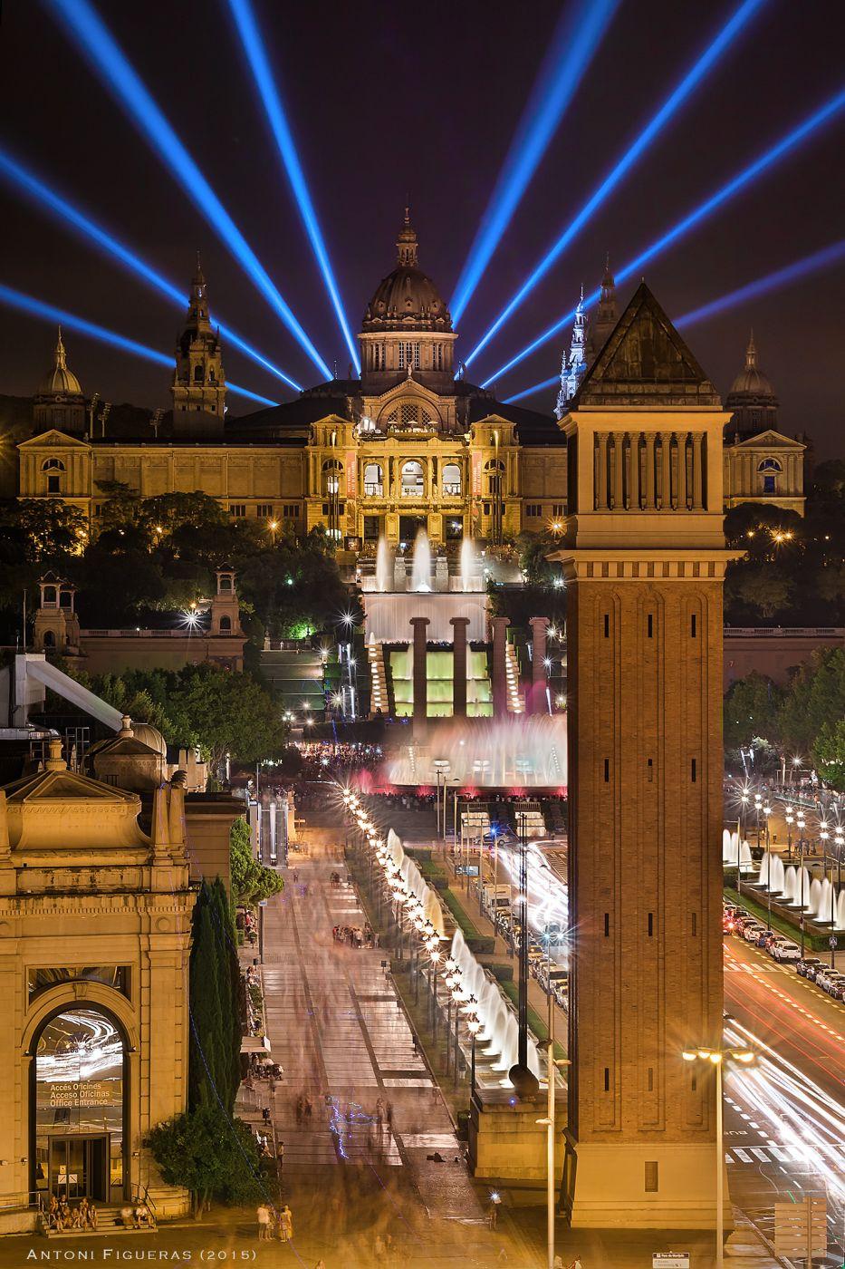 Palau Nacional & Passeig Maria Cristina, Spain