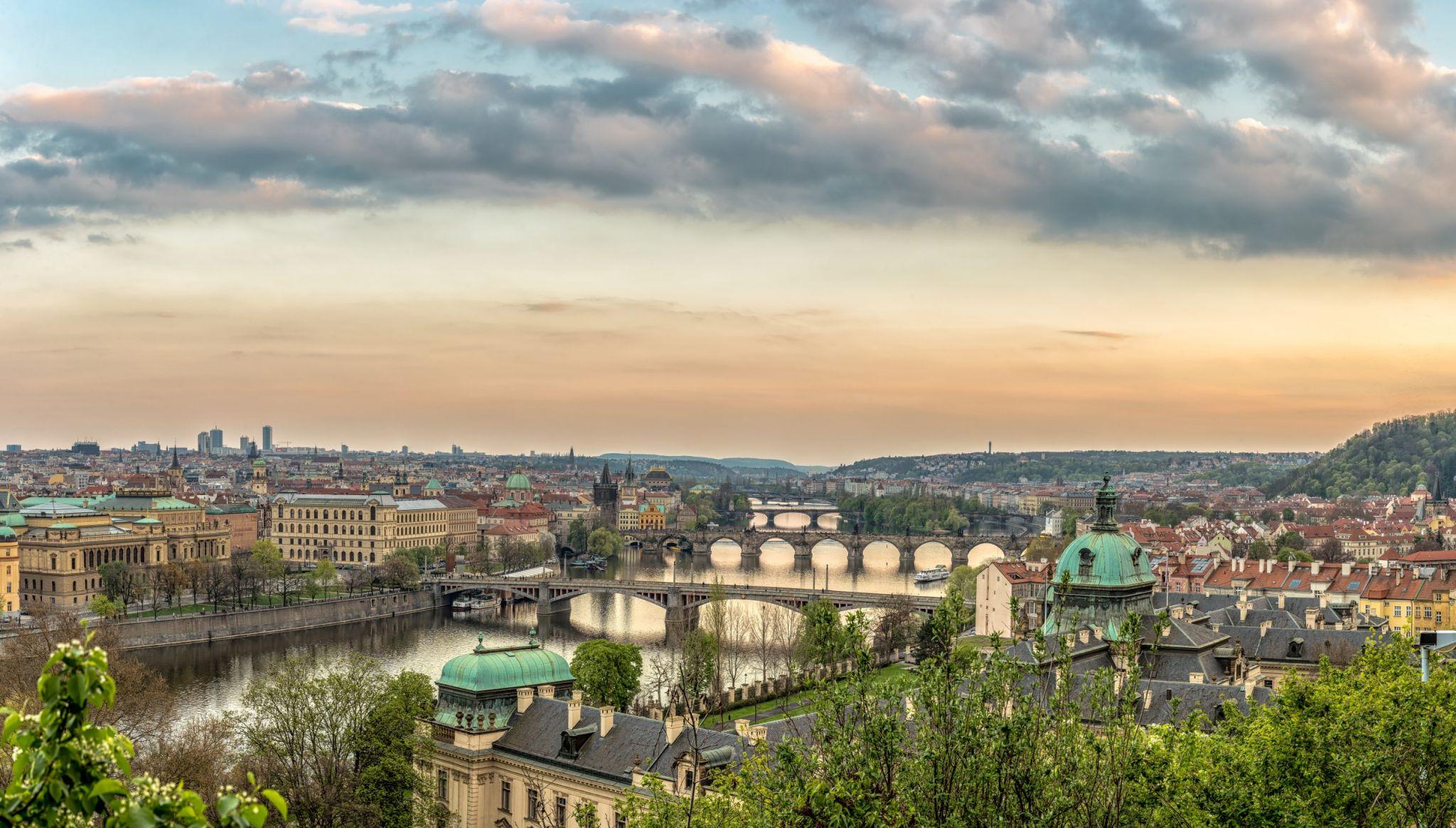 Prague 5 Bridges, Czech Republic