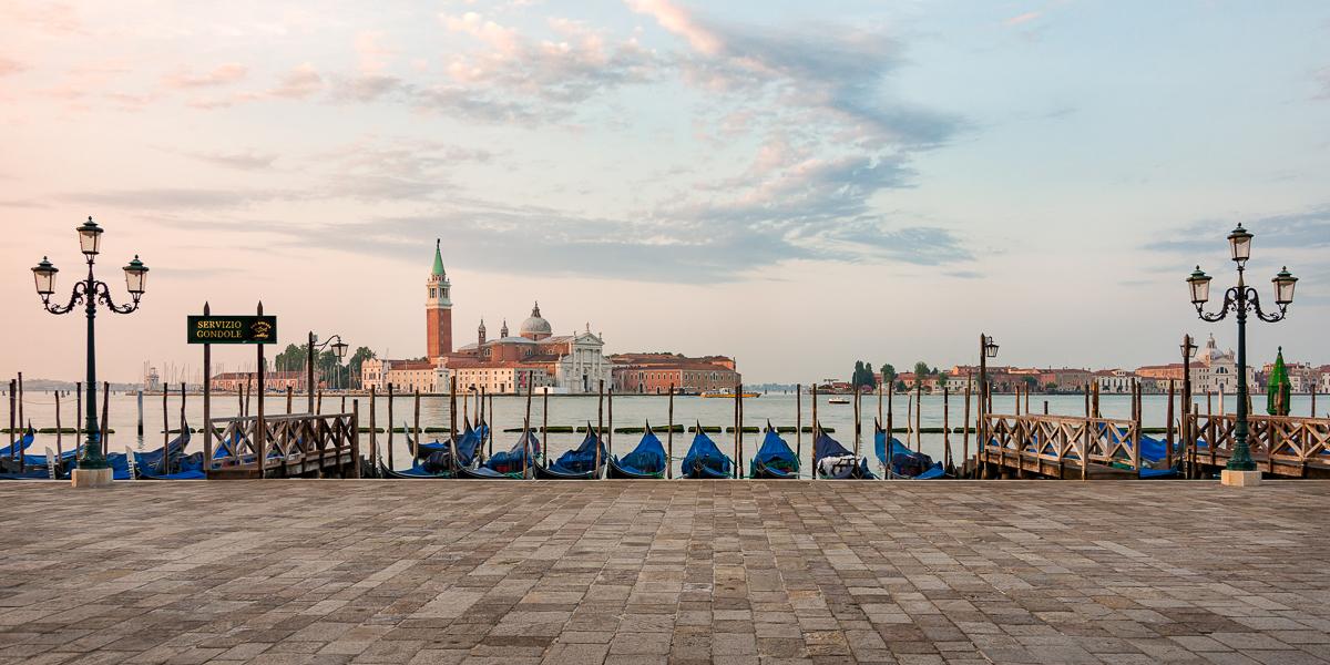 Riva Degli Schiavone looking towards San Giorgio Maggiore, Italy