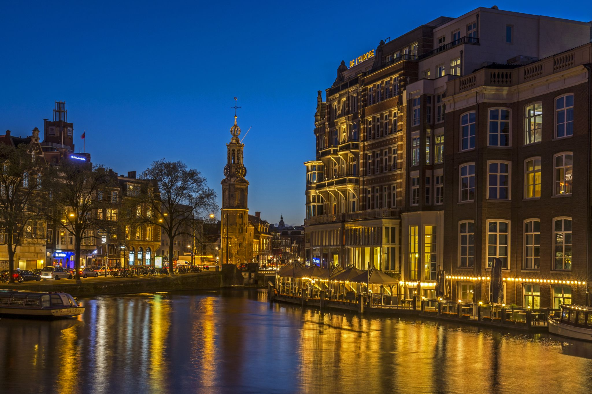 The Muntorren on the Amstel River, Netherlands