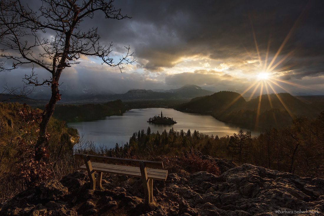 View from Ojstrica on Lake Bled, Slovenia