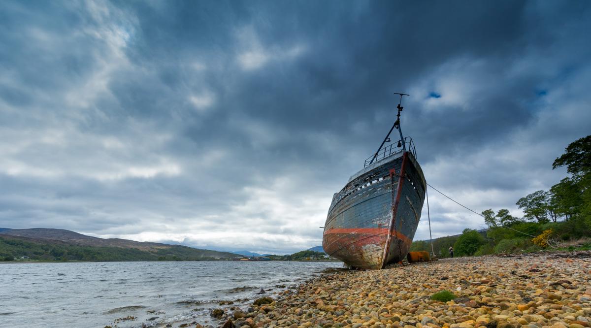 Abandoned fishing boat, United Kingdom