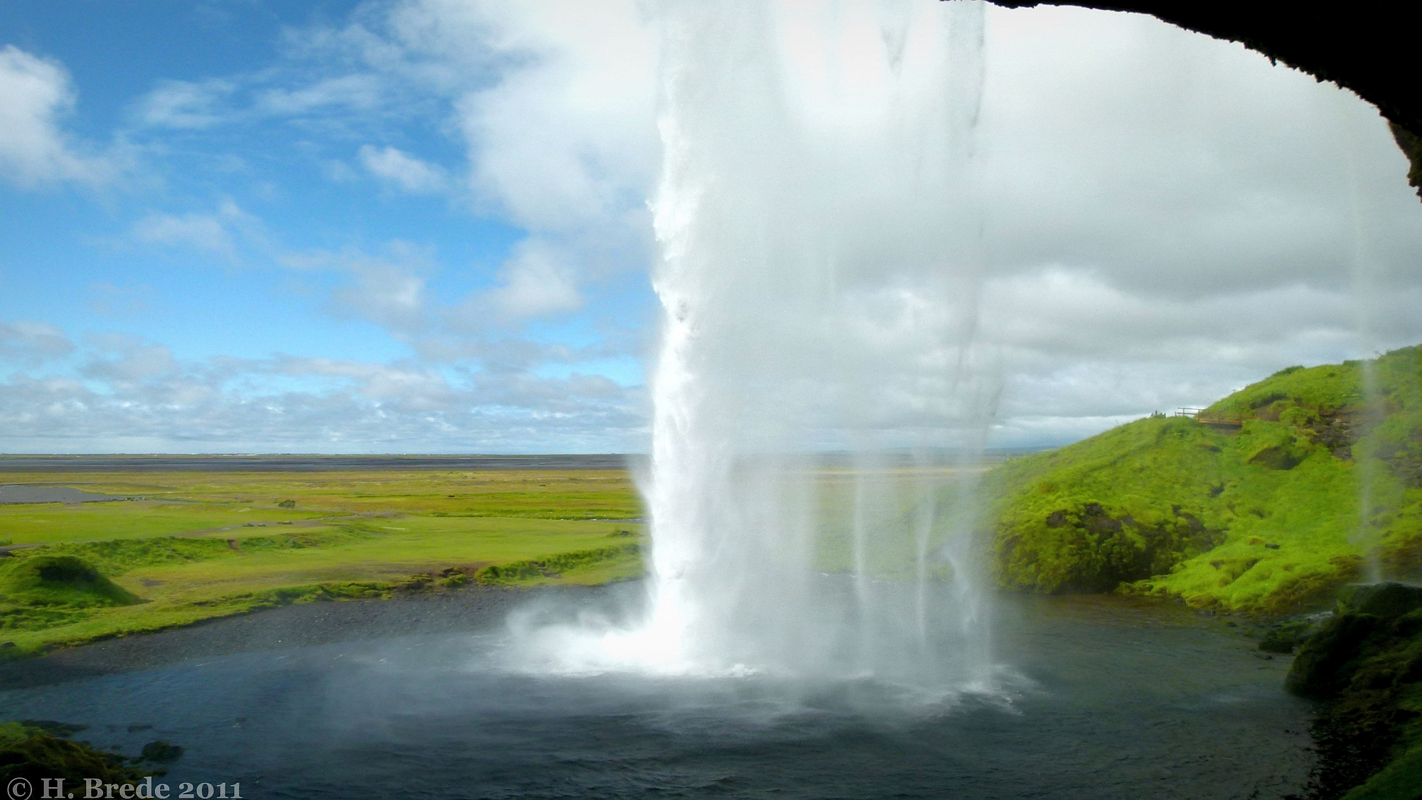 Behind the Seljalandsfoss, Iceland