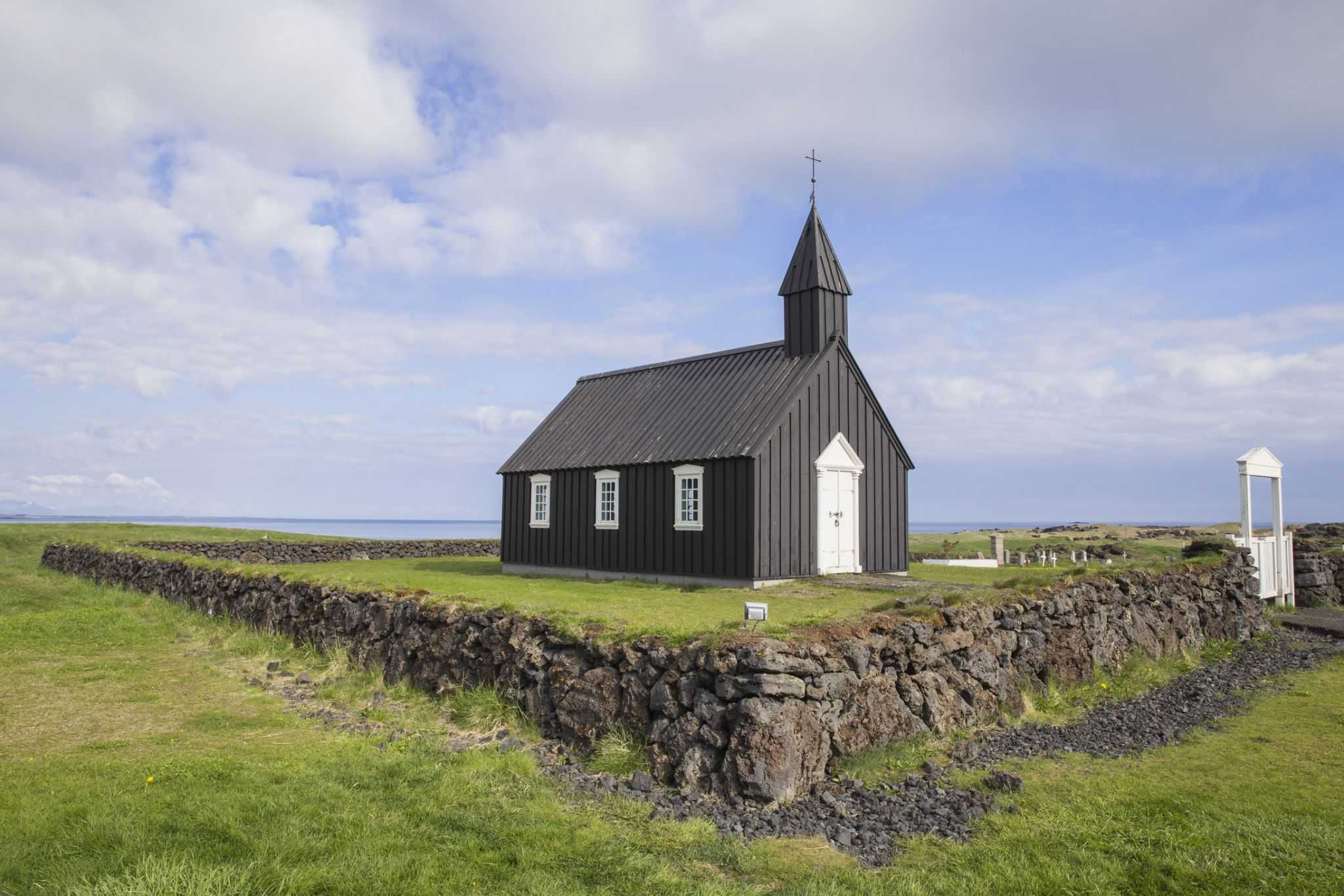 Budakirkja, The Church at Budir, Snaefellsnes, West Iceland, Iceland