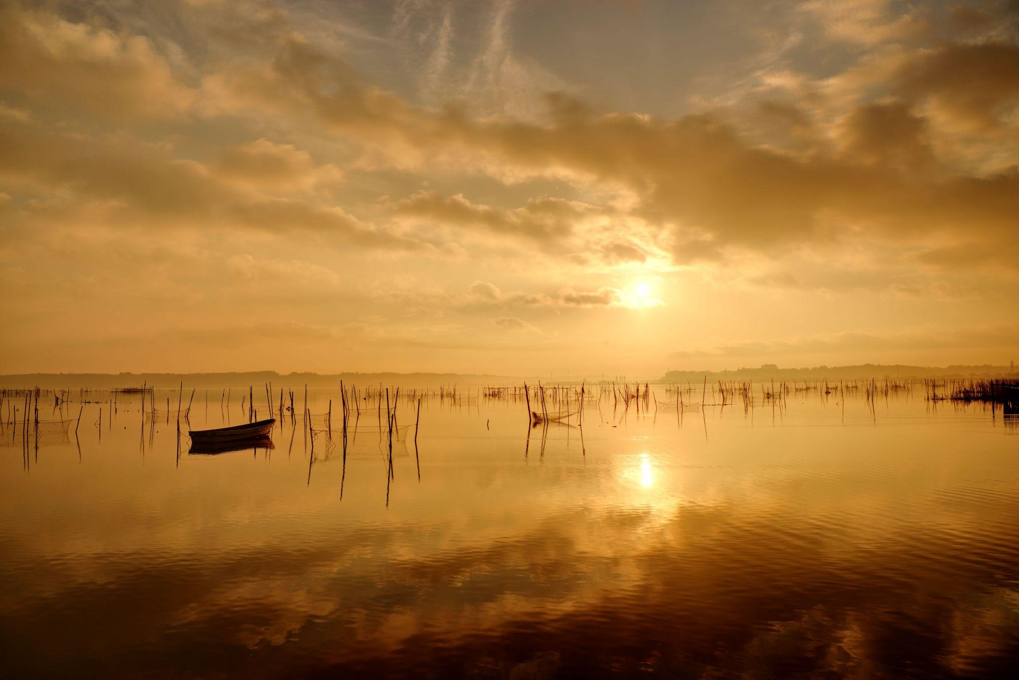 印旛沼 日の出撮影ポイント inbanuma sunrise spot, Japan