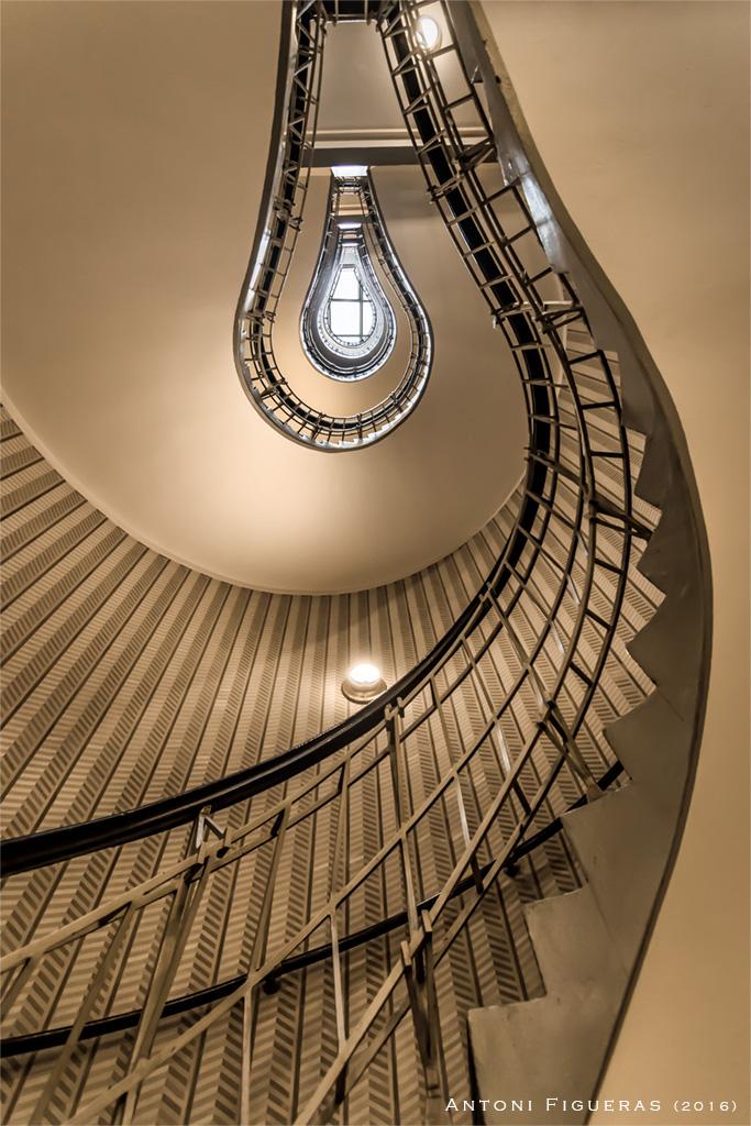 Light bulb staircase, Czech Republic
