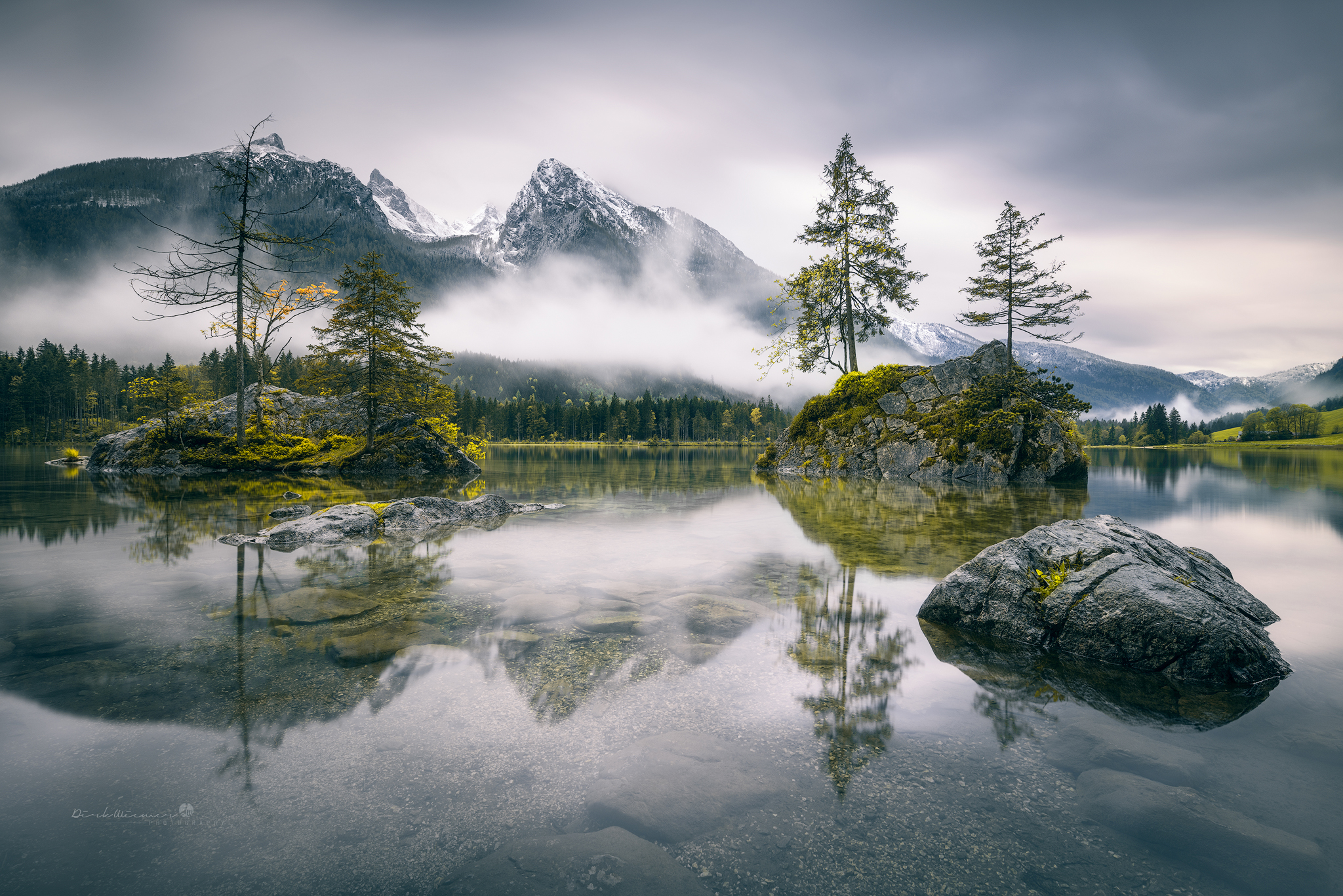 Rainy morning at Hintersee (Bavaria), Germany