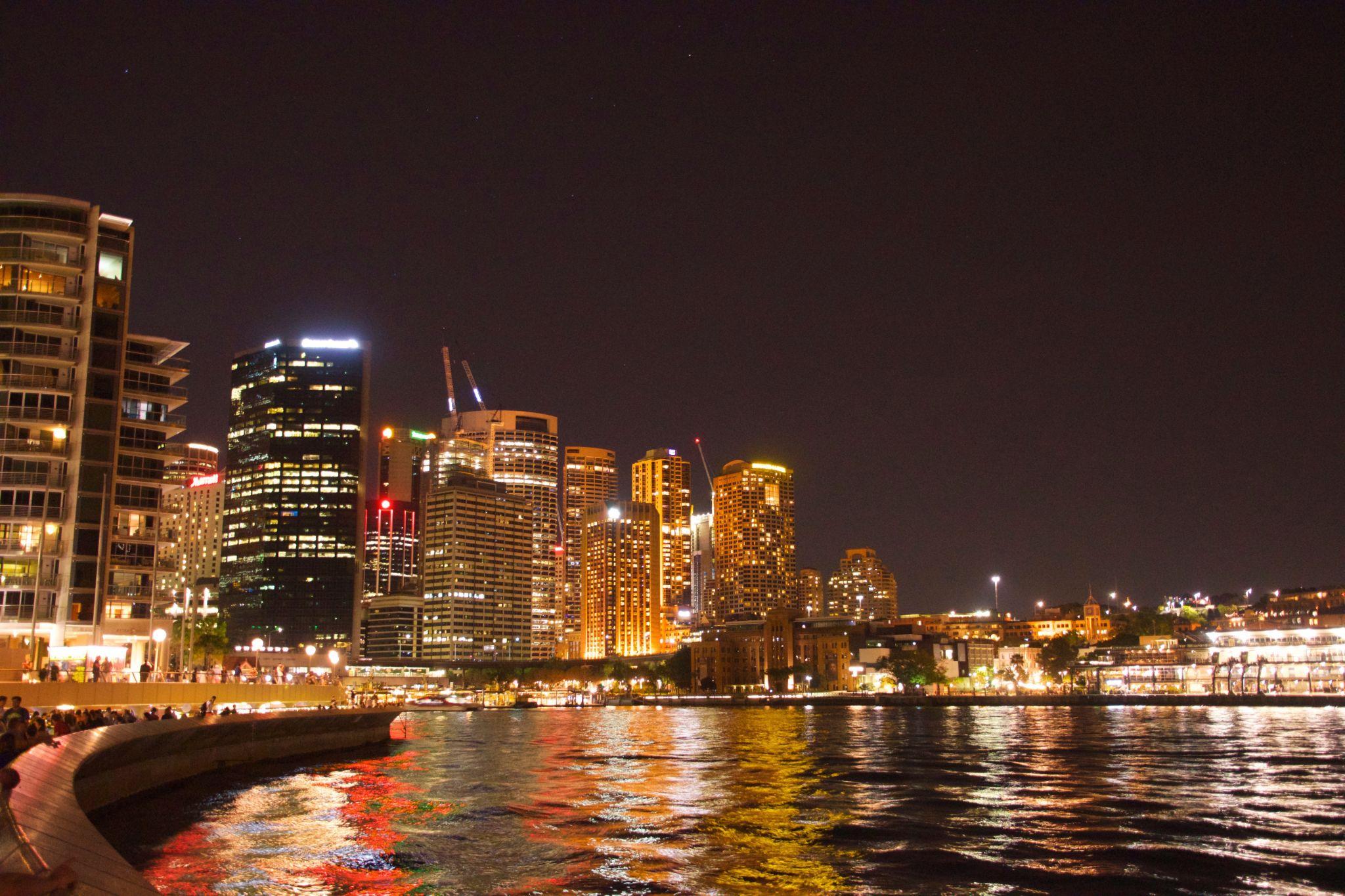 Sydney Harbour at night, Australia
