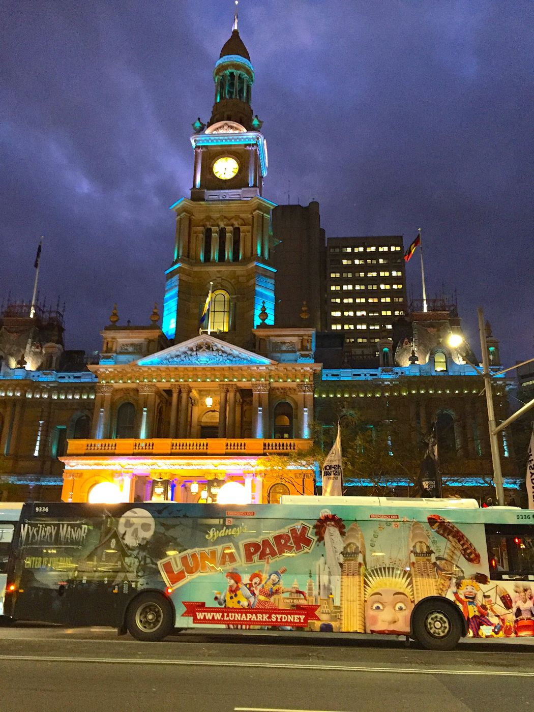 Sydney Town Hall at night, Australia
