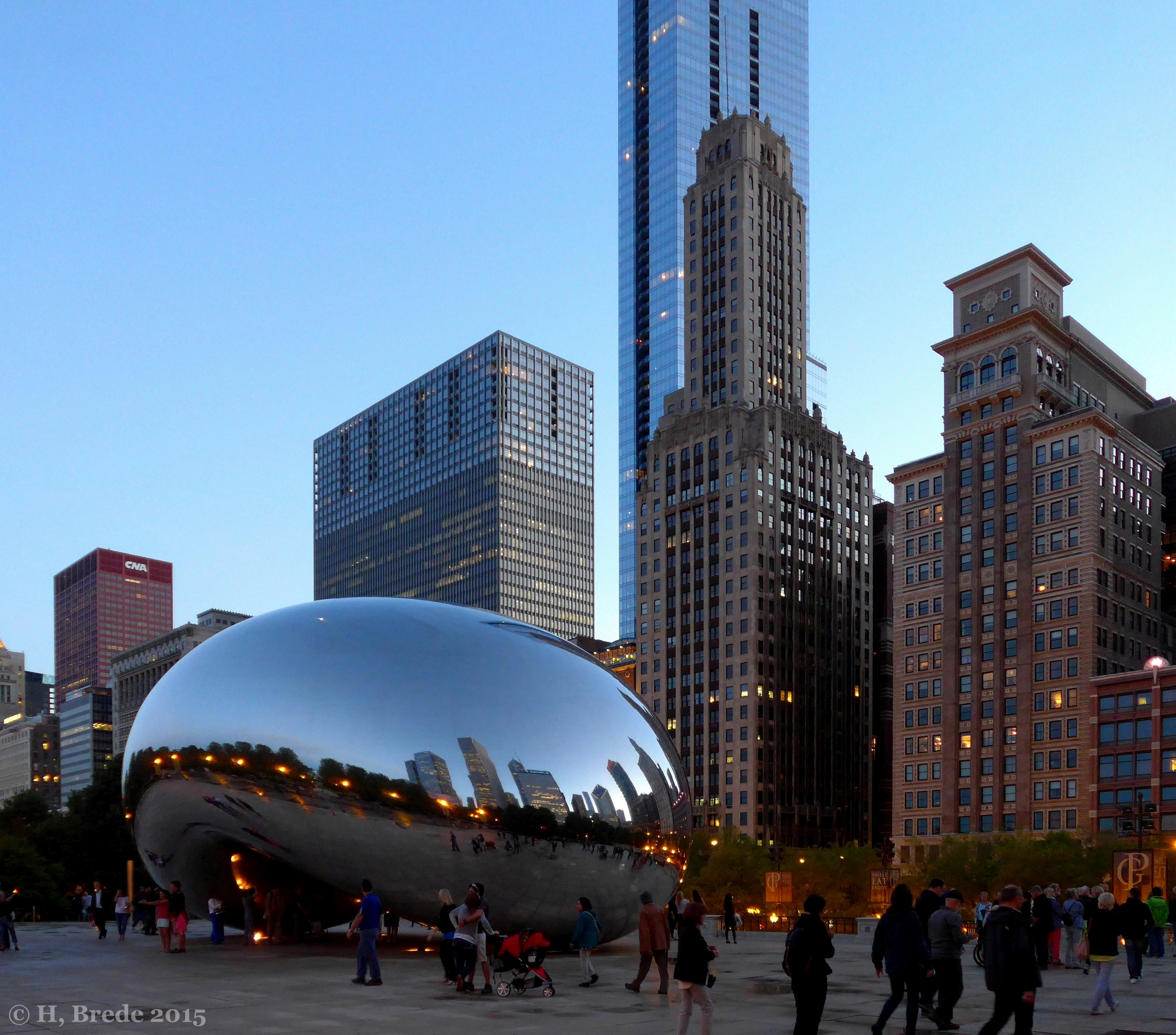 The Cloud gate in Chicago, USA