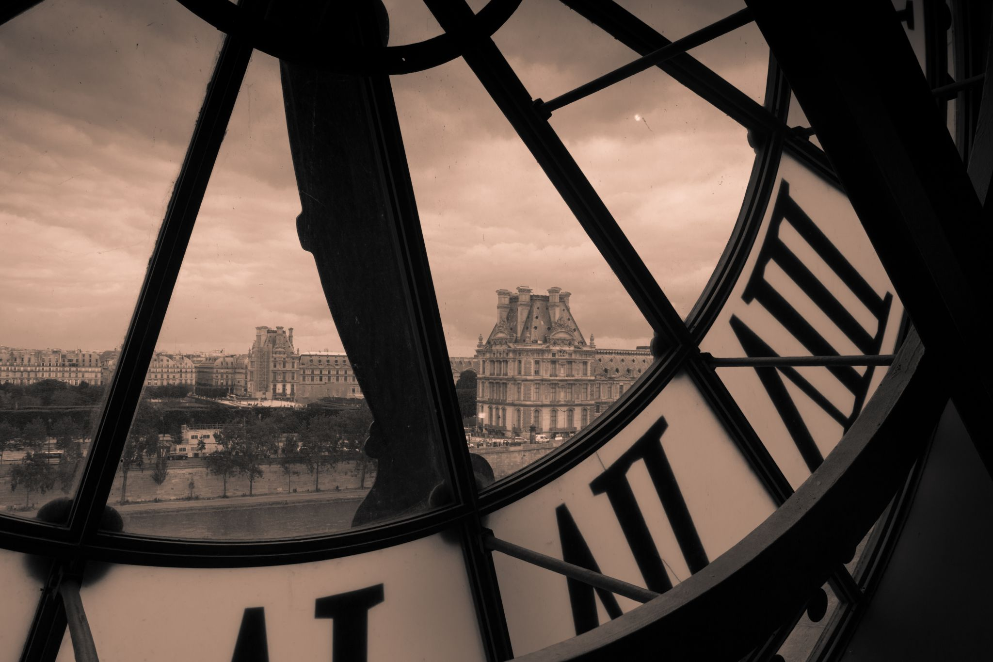 View from 5th floor of Musee d'Orsay, France