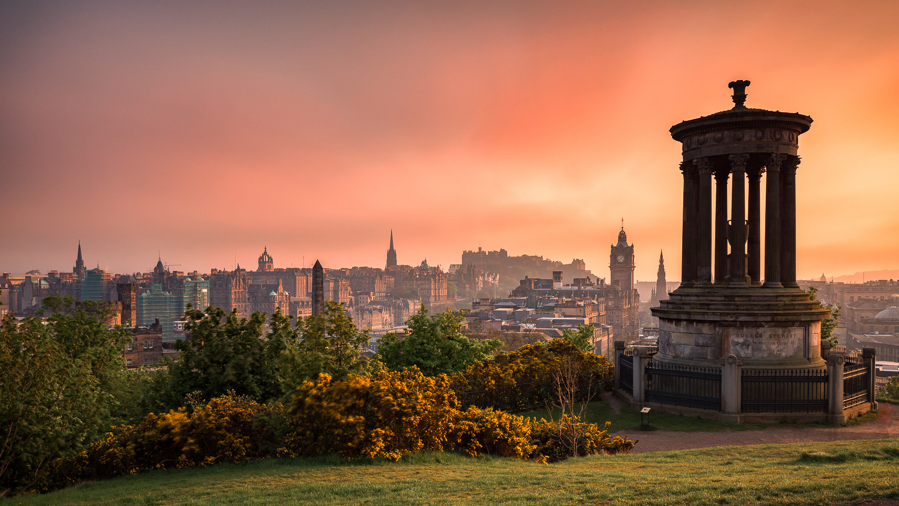 View over Edinburgh from Calton Hill, United Kingdom
