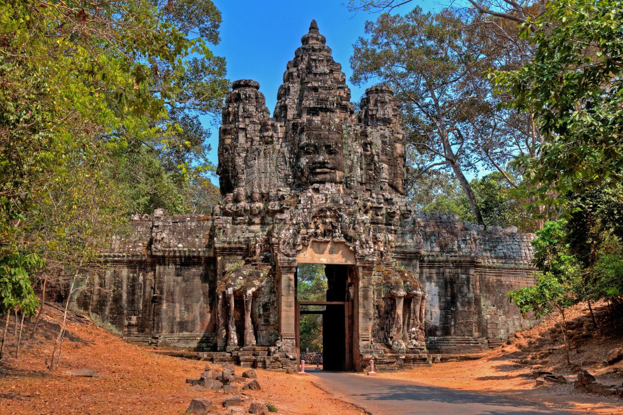 Angkor Thom Victory Gate, Cambodia