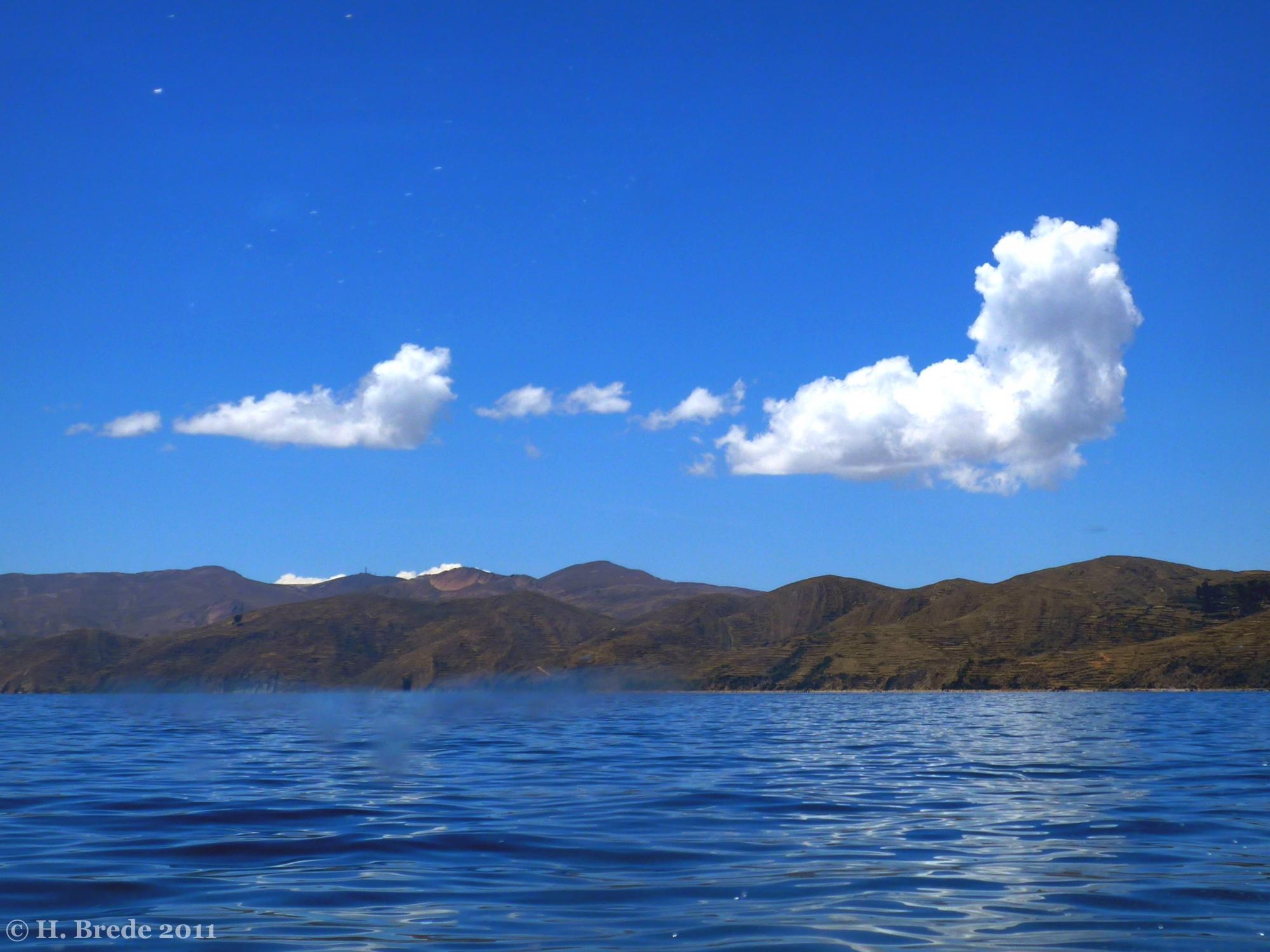 Clouds on Lake Titicaca, Peru