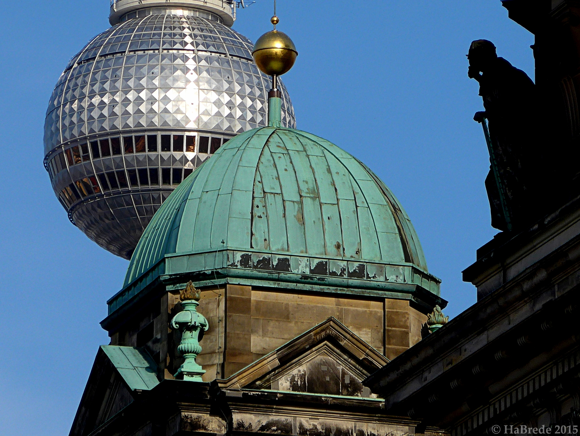 Details form Dome and TV-Tower in Berlin, Germany