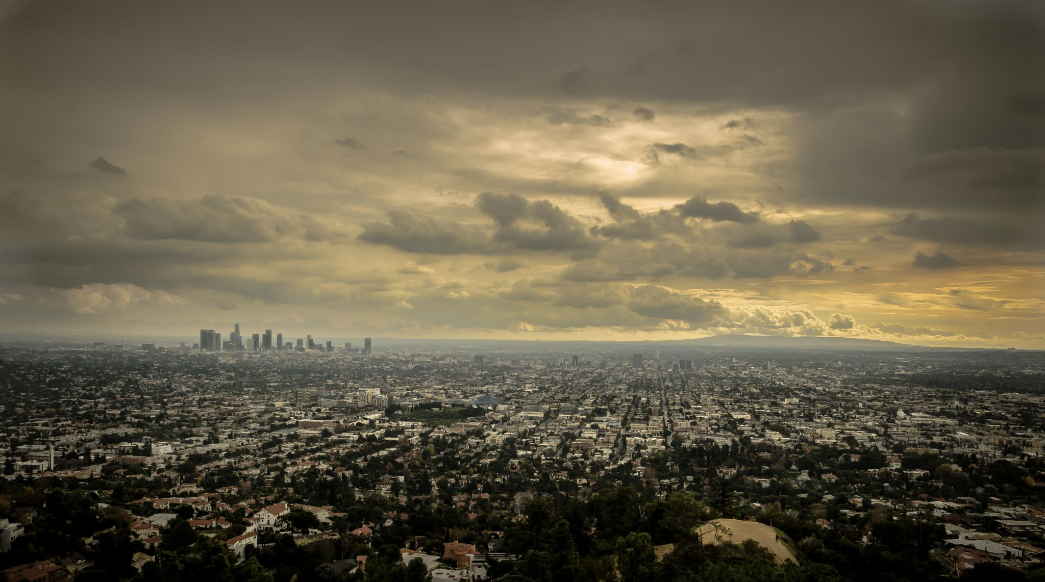 Griffith Observatory View of Los Angeles, USA