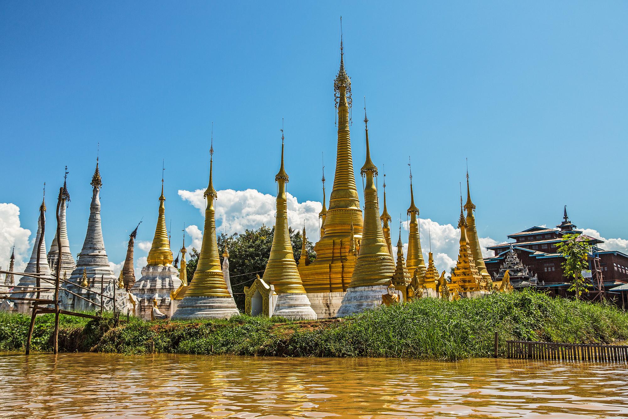 Insel Pagode, Myanmar