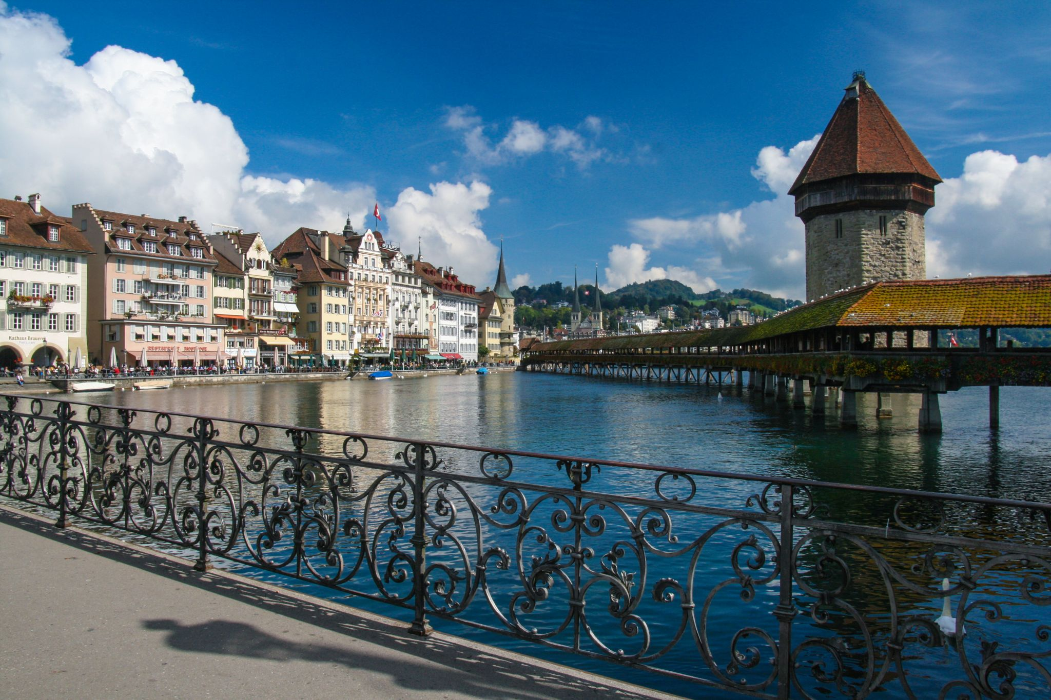 Kapellbridge Lucerne - from Rathaussteg, Switzerland