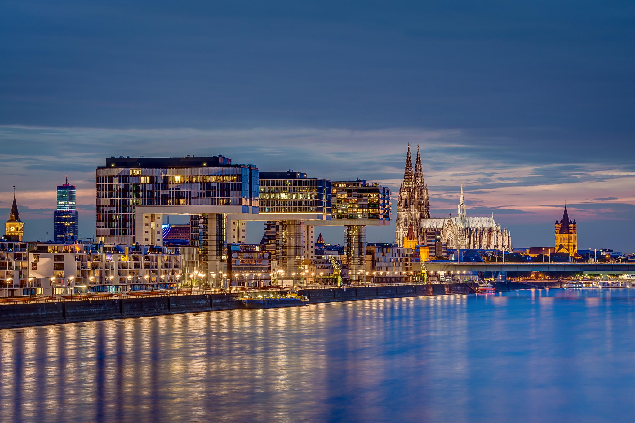 Kölner Panorama von der Südbrücke aus, Germany
