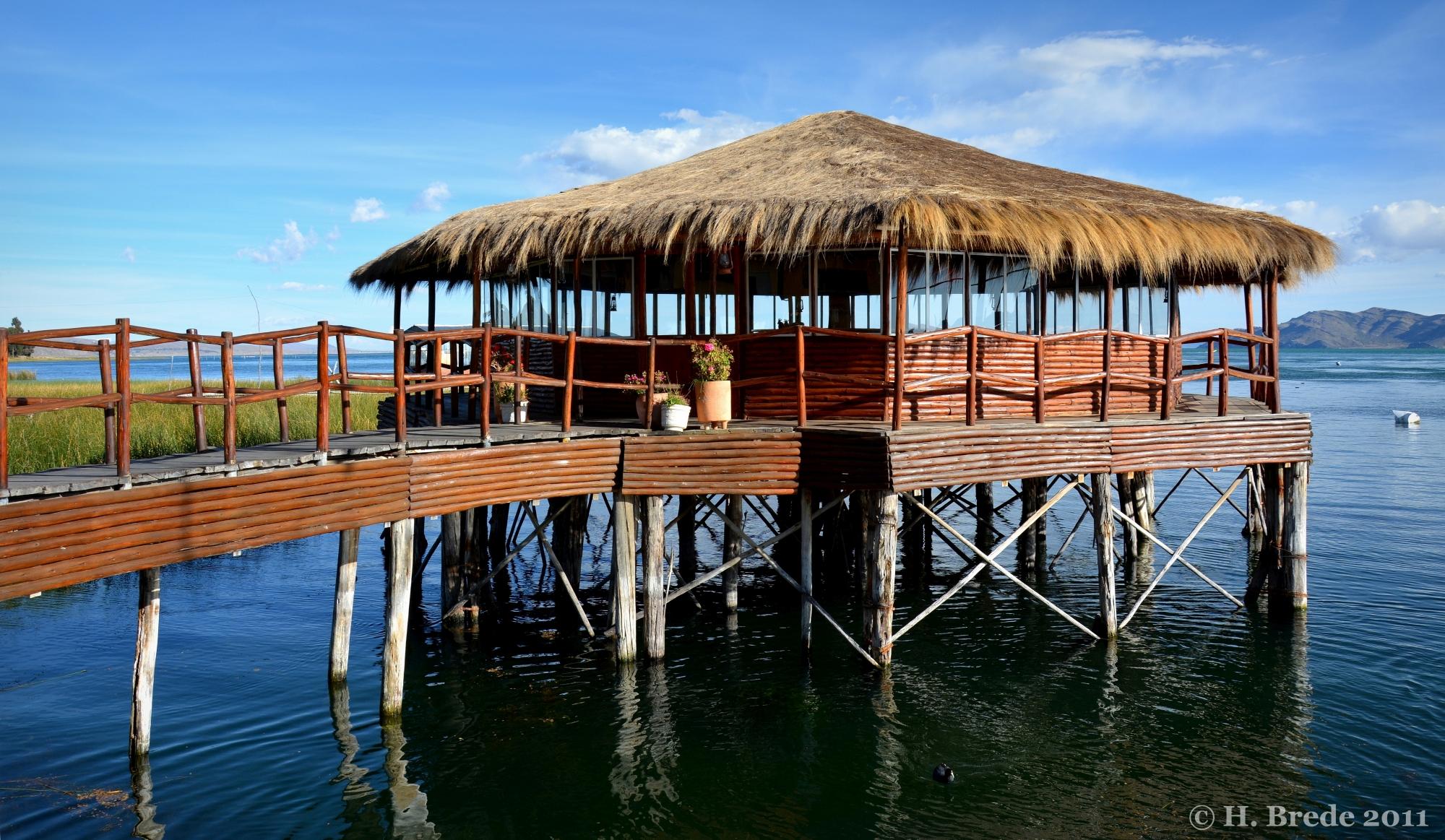 On Lake Titicaca, Peru
