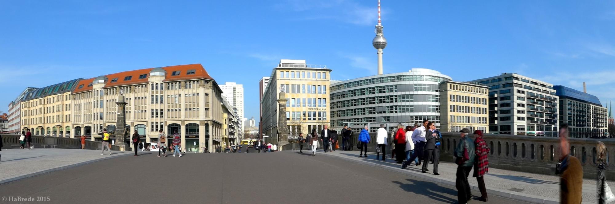 On the Friedrich Bridge in Berlin, Germany
