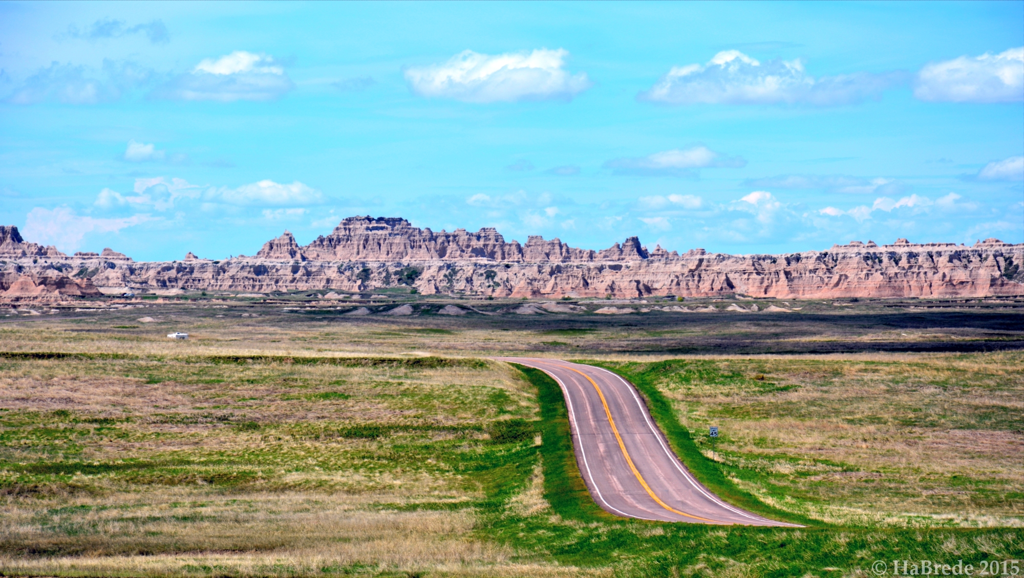 On the way to the Badlands, USA