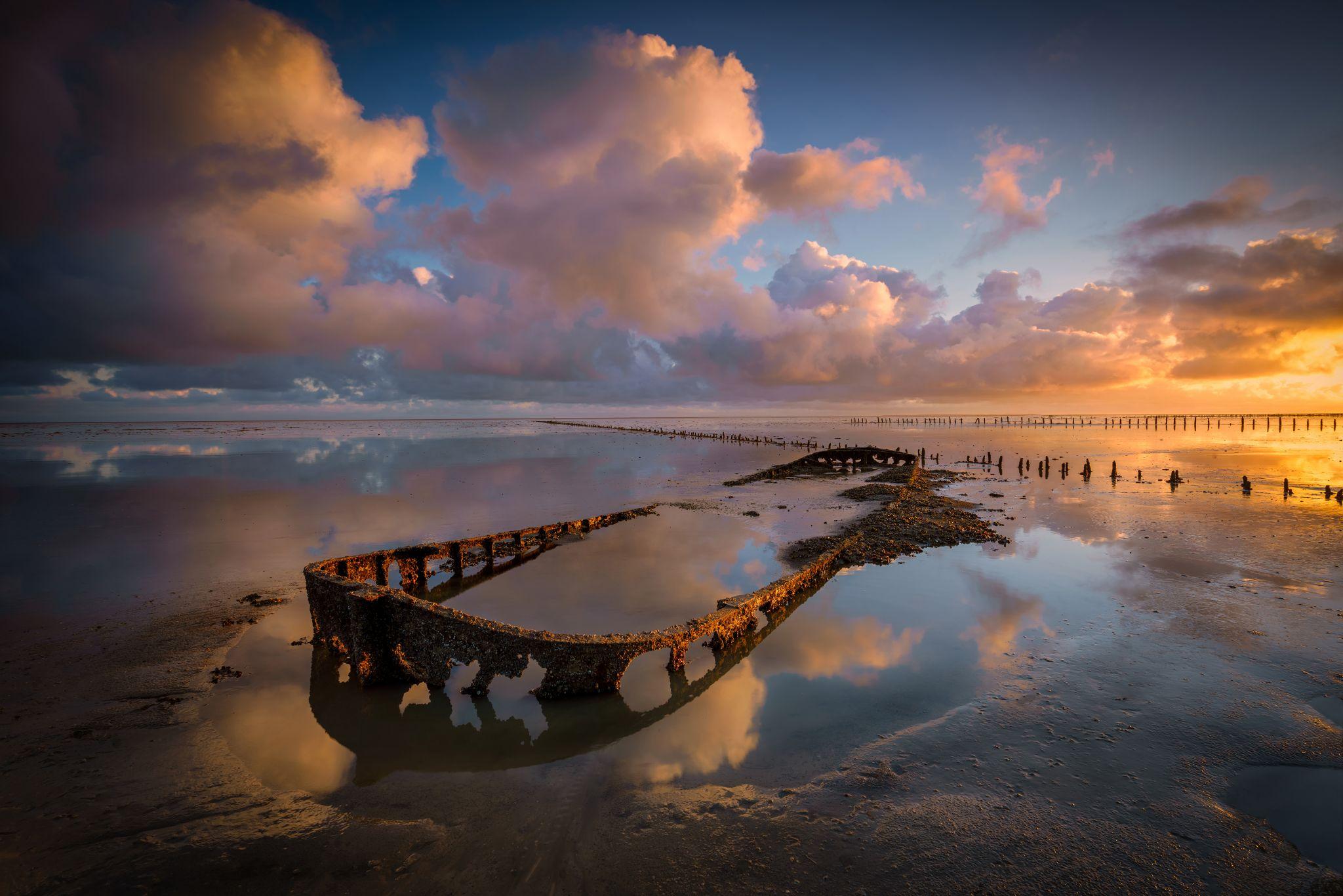 Shipwreck Wierum, Netherlands