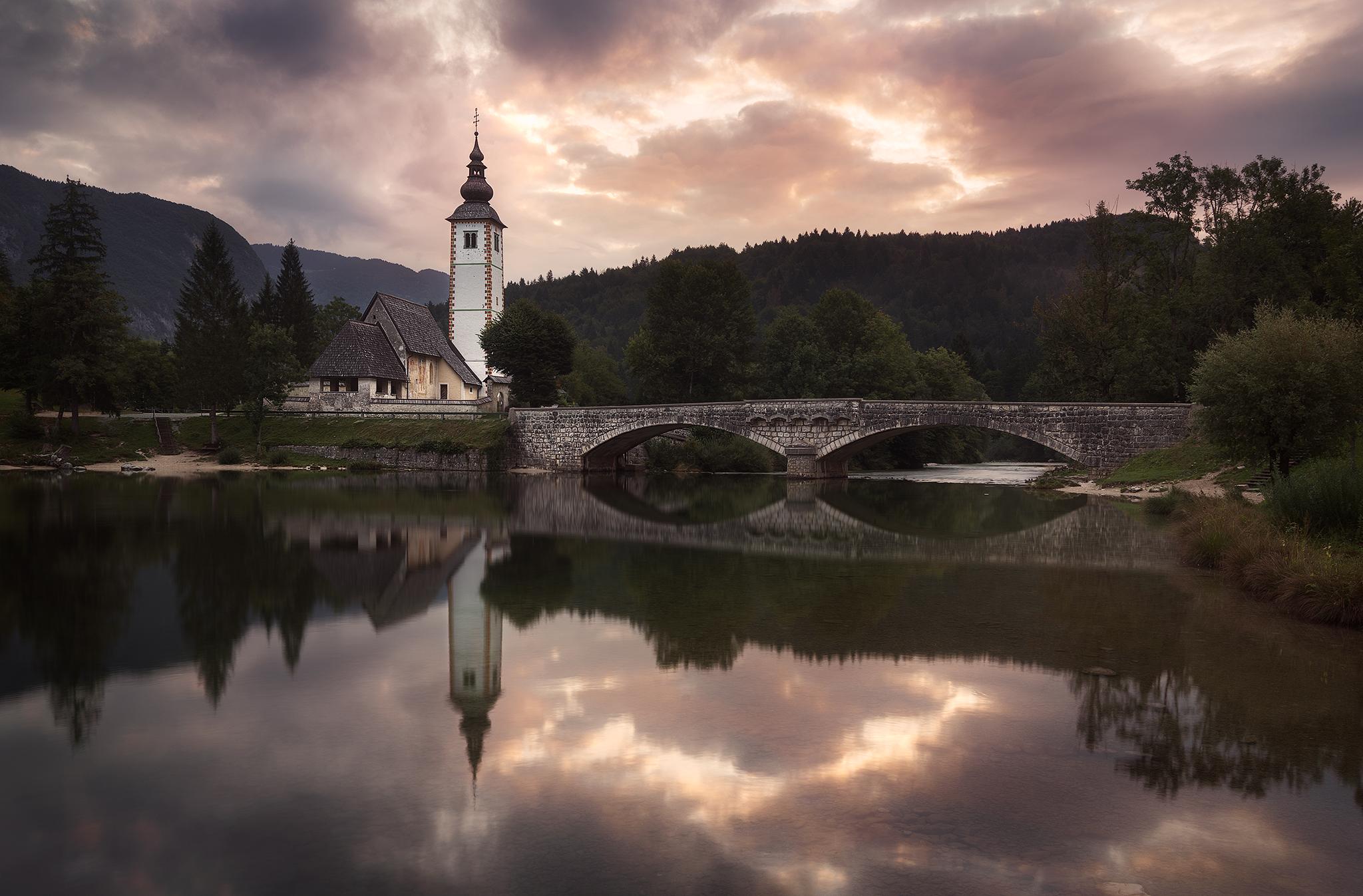 The church of Bohinj, Slovenia