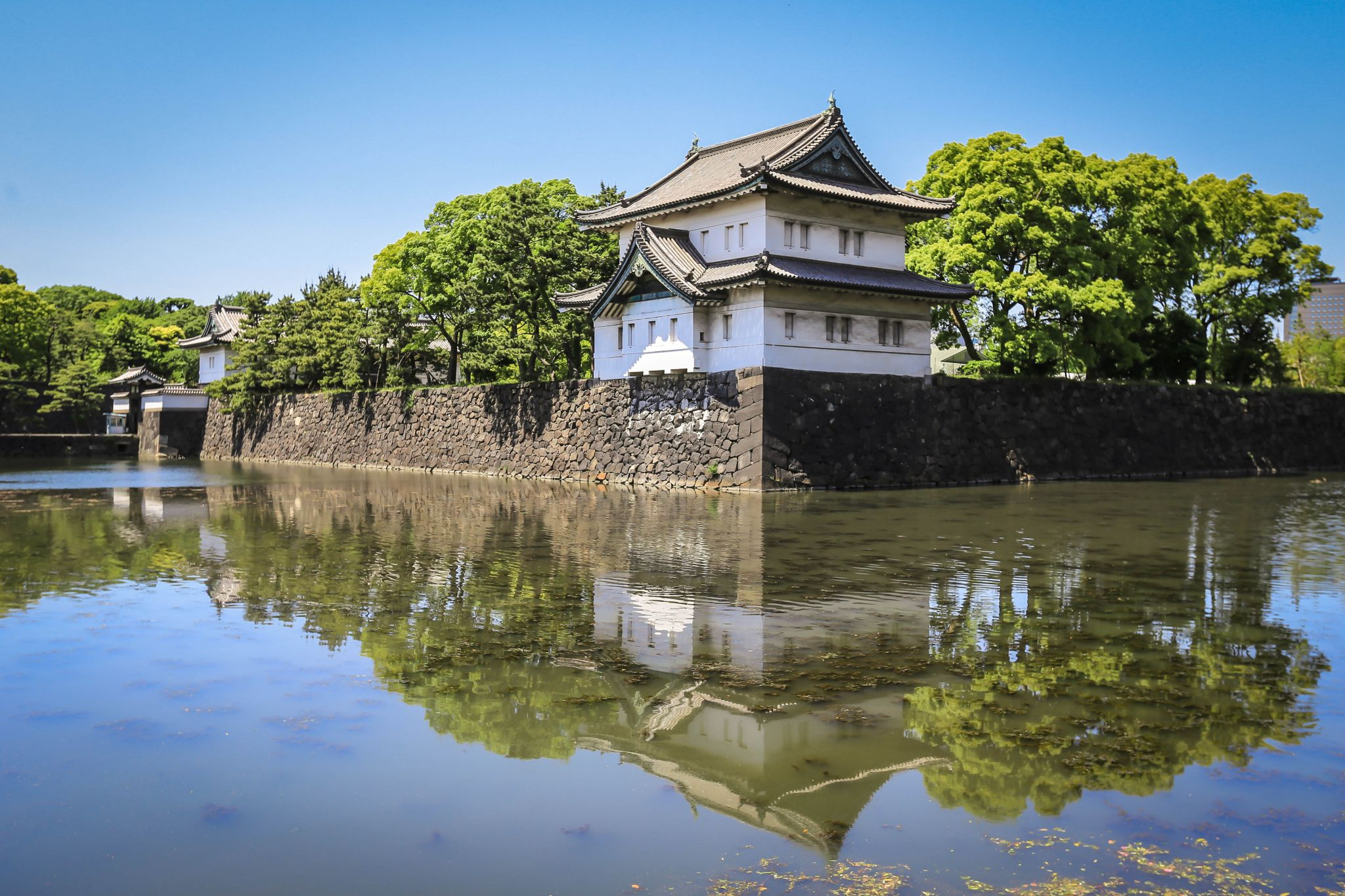 Corner Tower and Kikyo-mon Gate, Japan