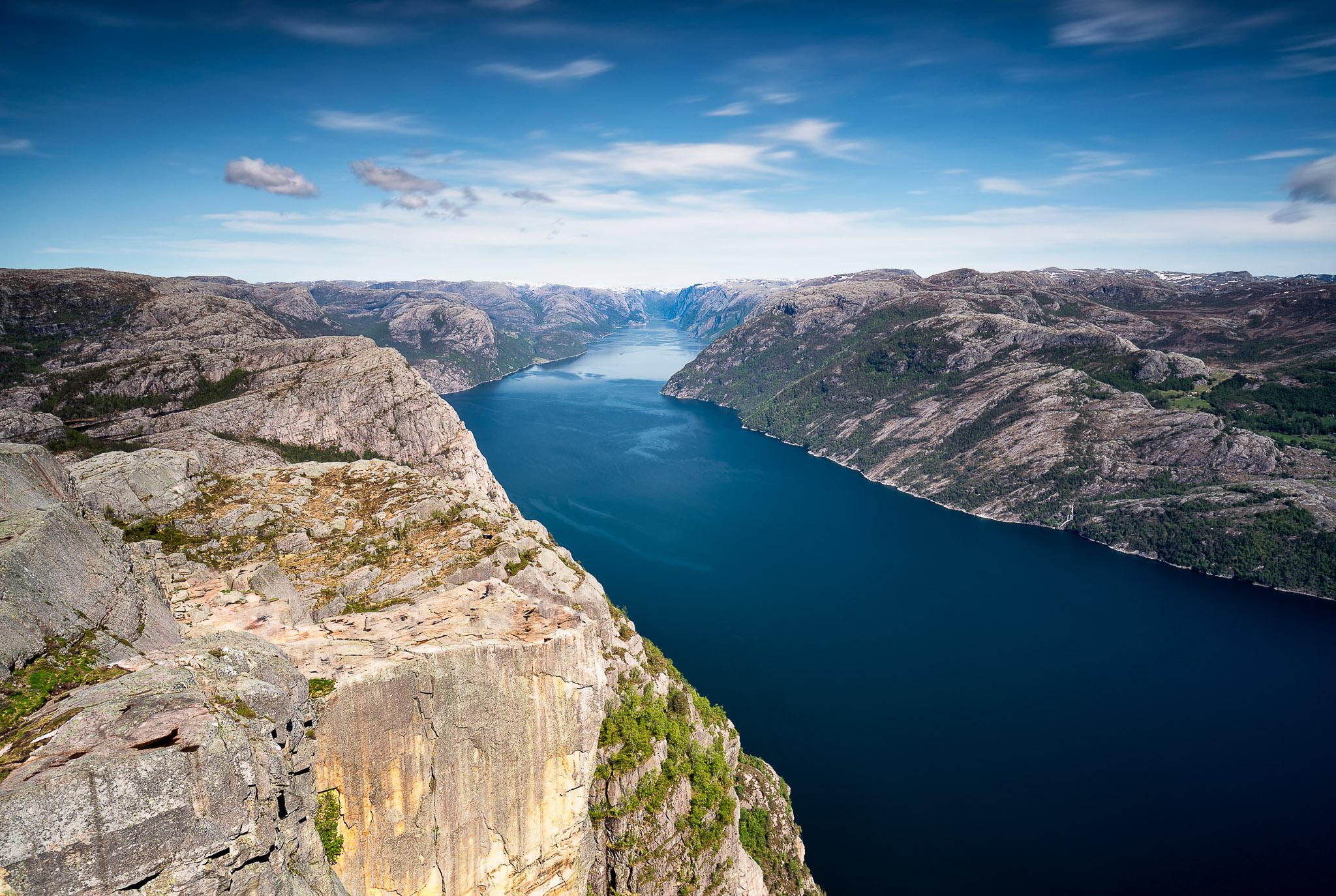 View along Lysefjorden, Norway
