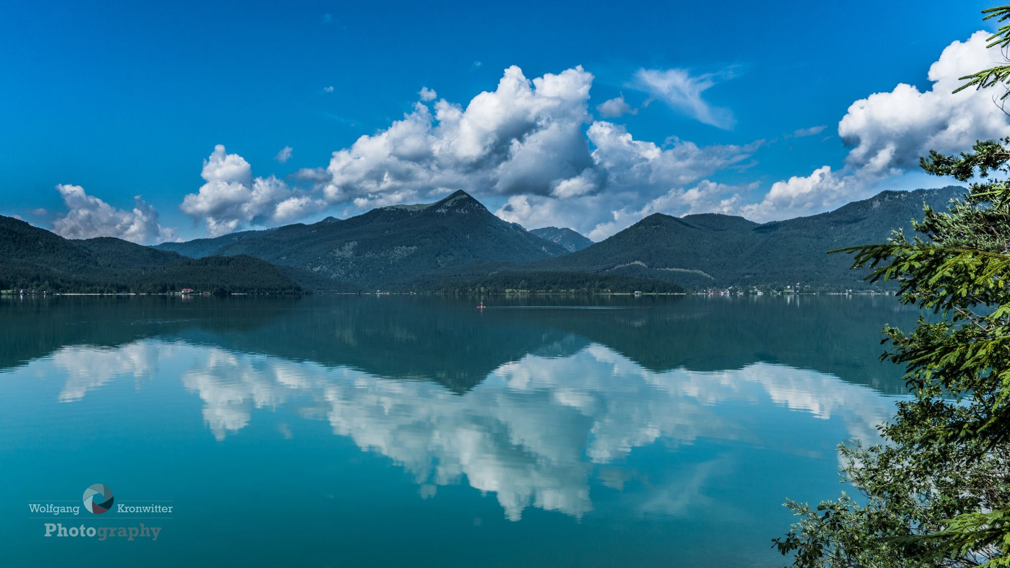 cristal clear Mountain lake in Bavaria, Germany