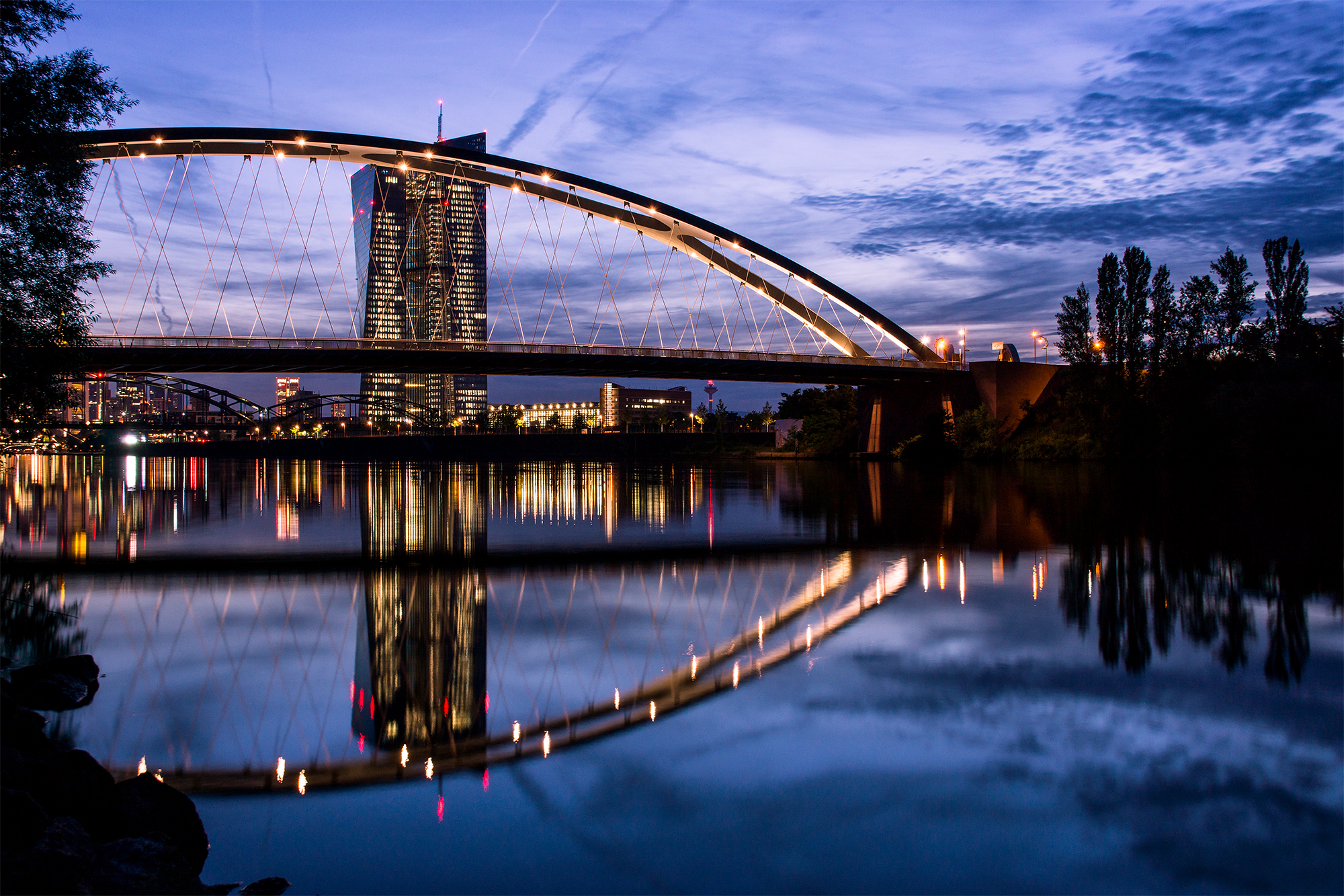 ECB and Osthafenbridge, Germany