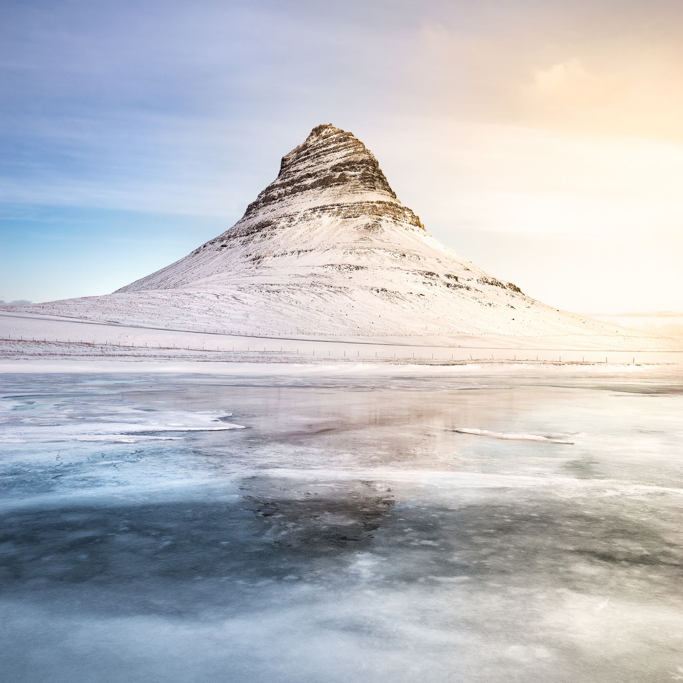 Kirkjufell reflection, Iceland