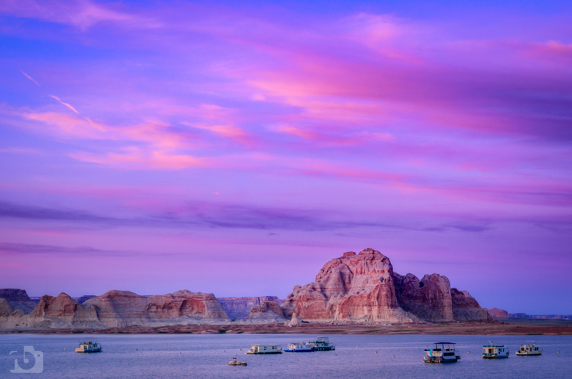 Lake Powell sunset, USA