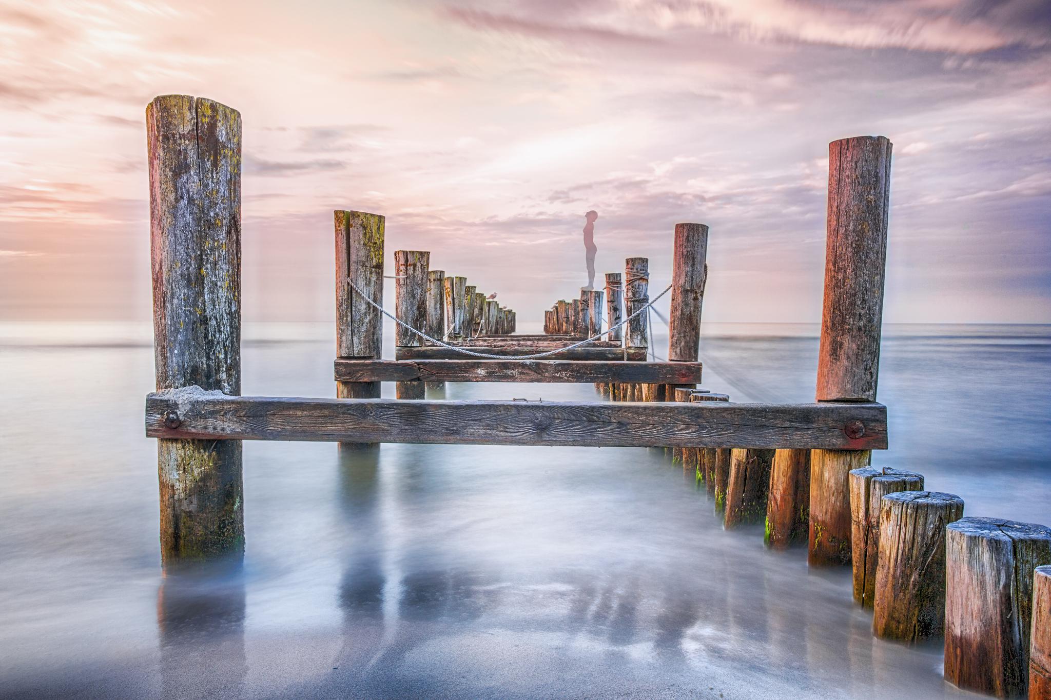 Old jetty, Zingst, Germany