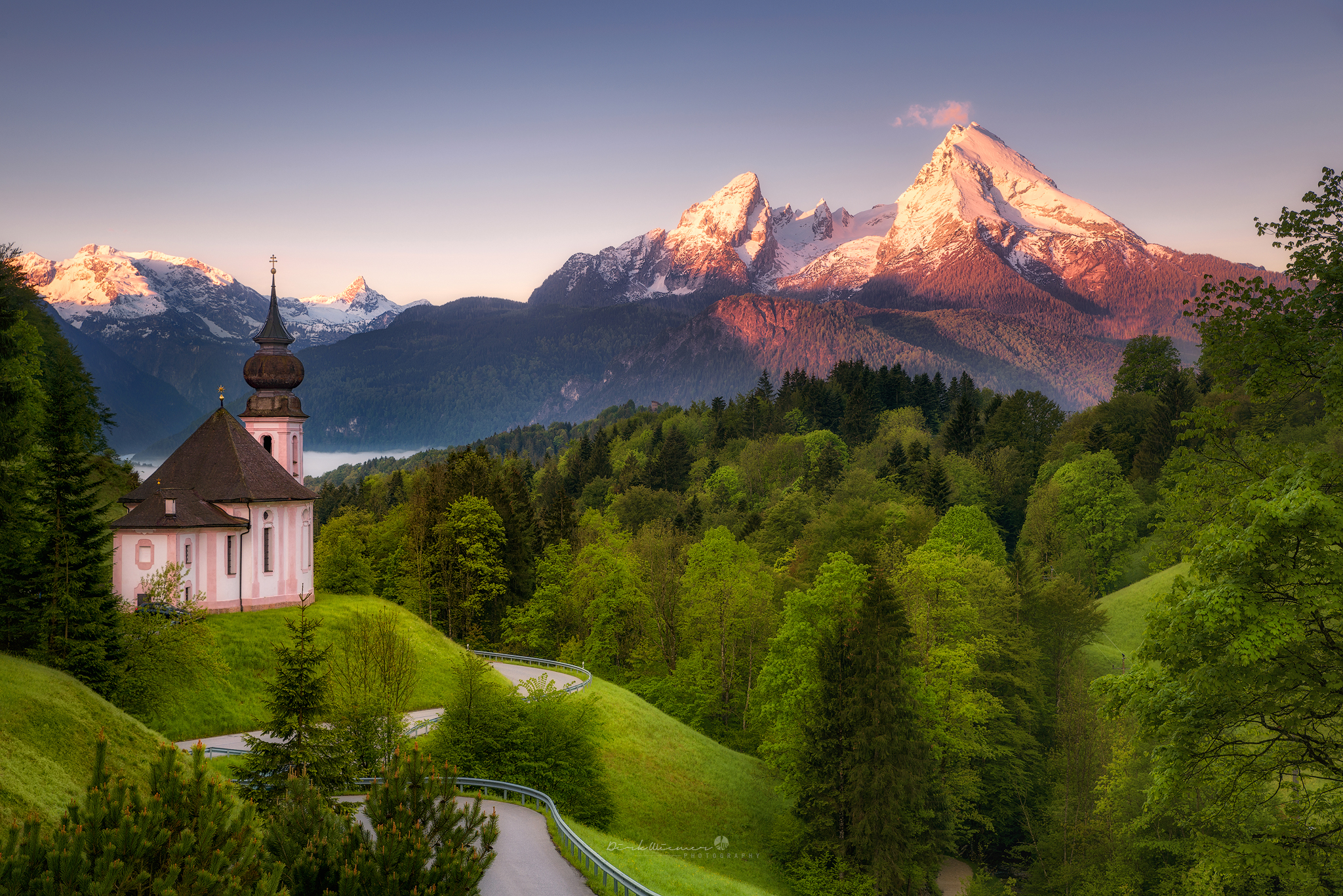 Maria Gern Church, Bavaria - Hill View, Germany